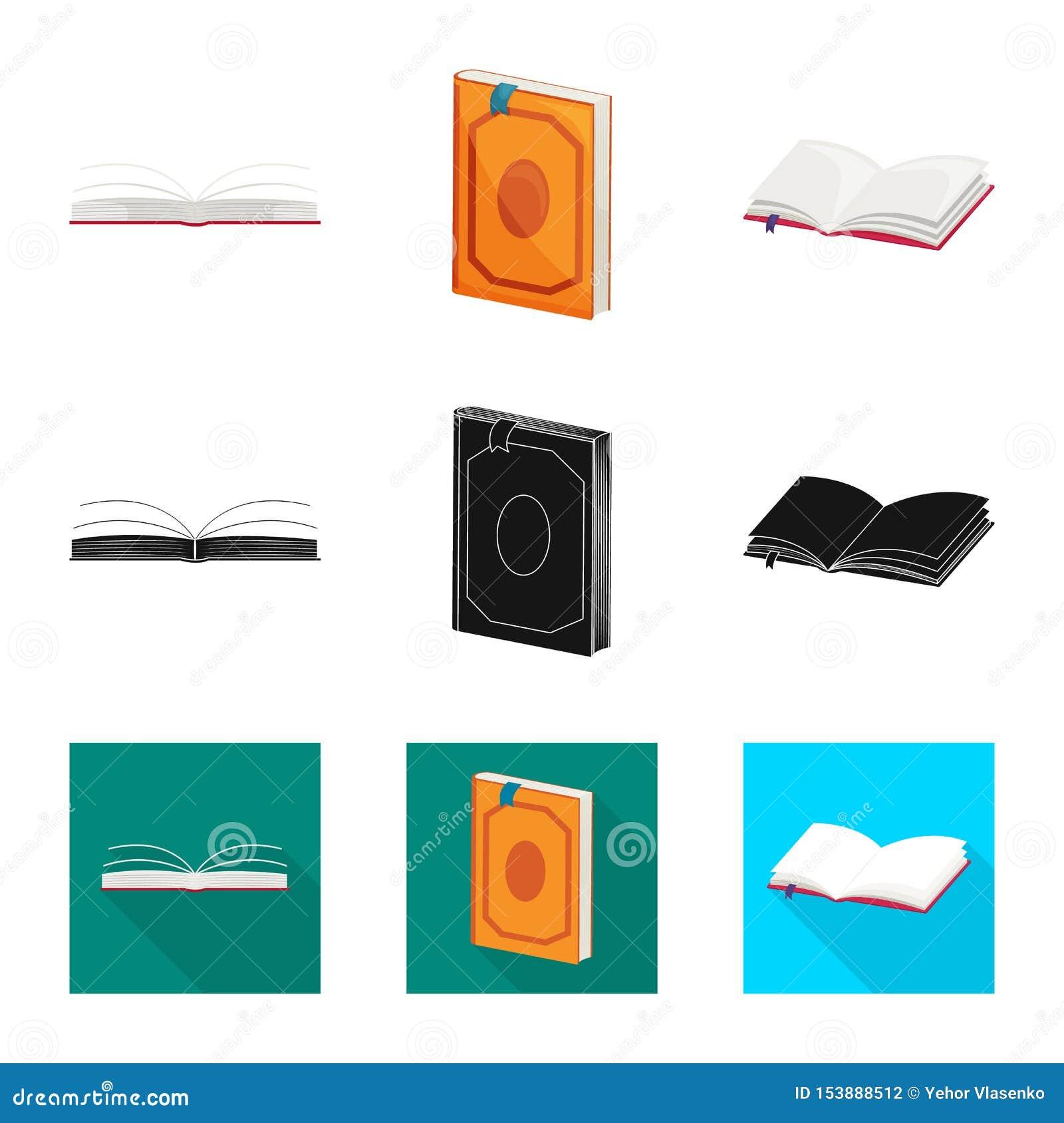 Wektorowa ilustracja szkolenia i pokrywy ikona Kolekcja szkolenie i bookstore akcyjny symbol dla sieci