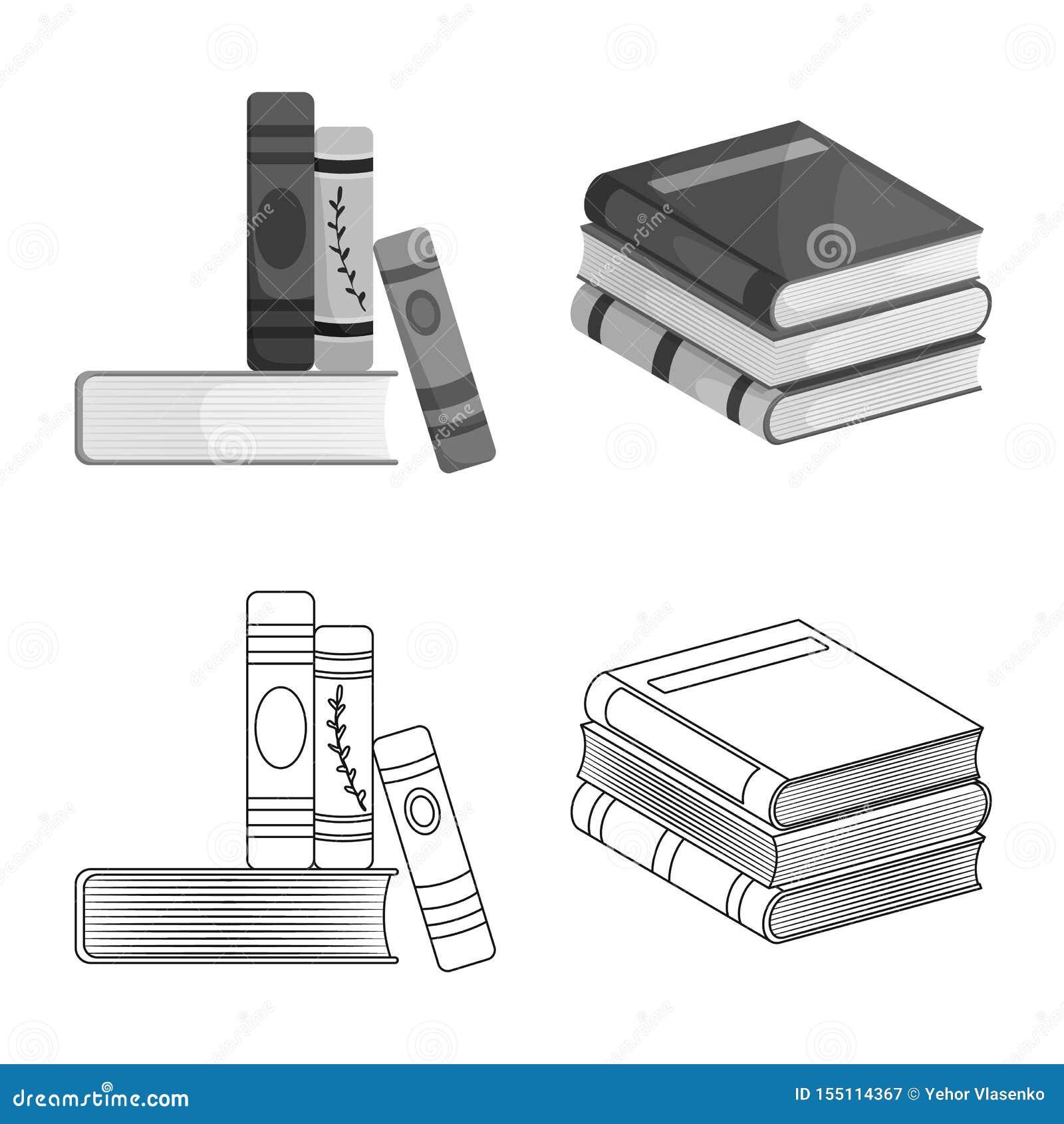 Wektorowa ilustracja szkolenia i pokrywy logo Kolekcja szkolenie i bookstore akcyjna wektorowa ilustracja
