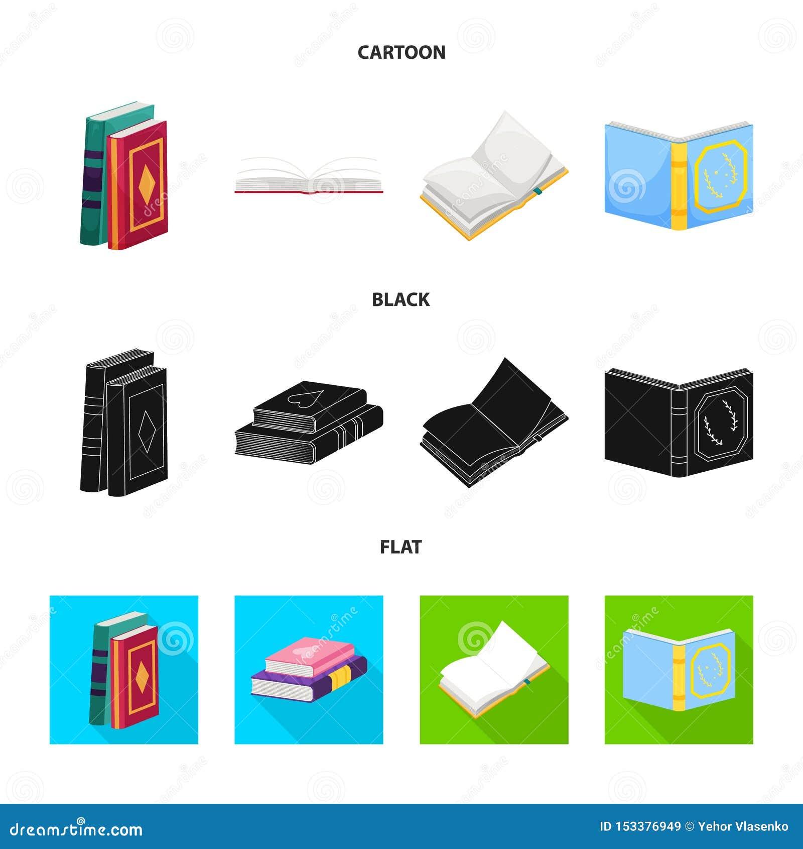Wektorowa ilustracja szkolenia i pokrywy znak Set szkolenie i bookstore akcyjny symbol dla sieci