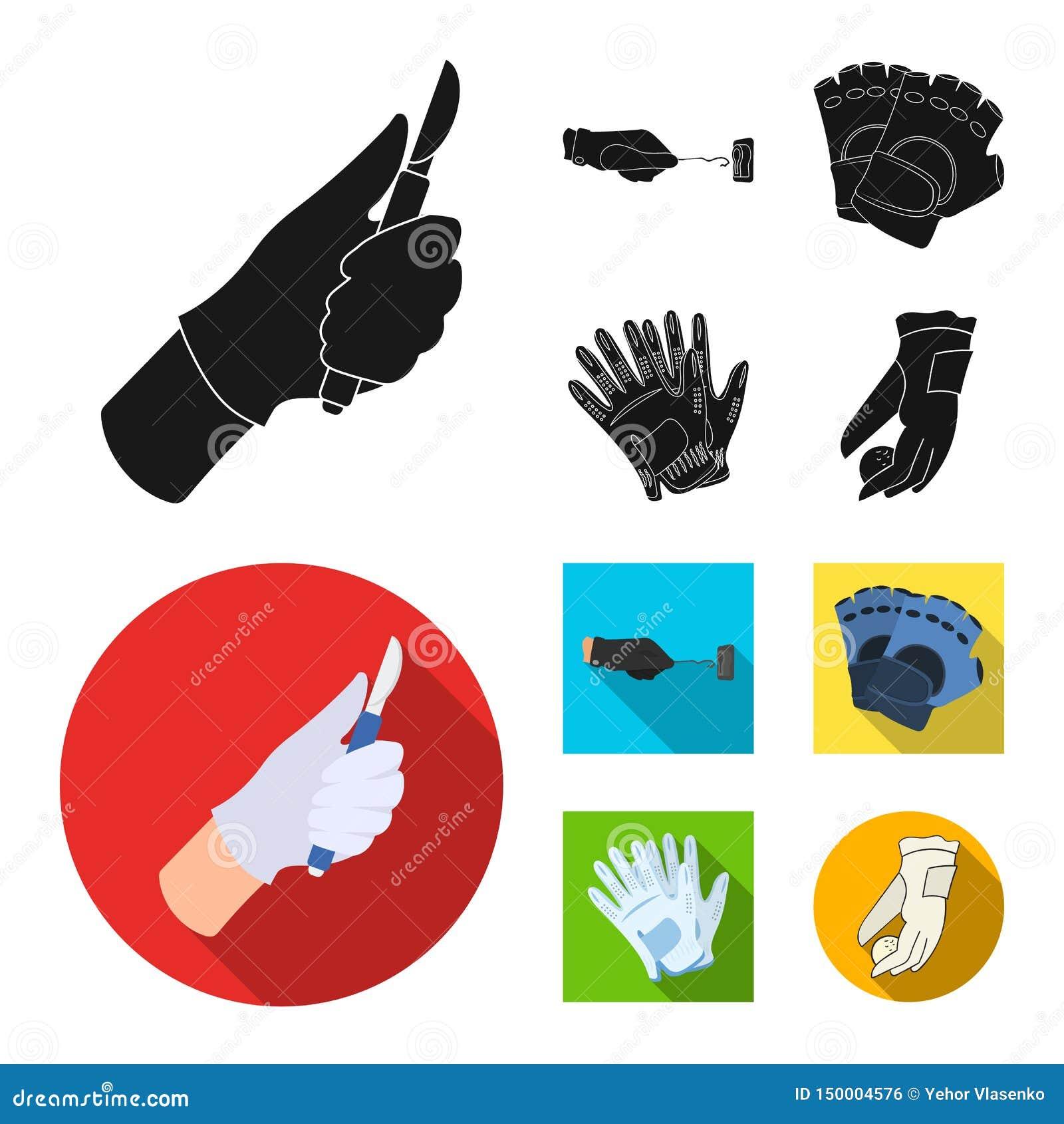 Wektorowa ilustracja trykotowy i pastuch symbol Kolekcja trykotowa i r?ka akcyjna wektorowa ilustracja