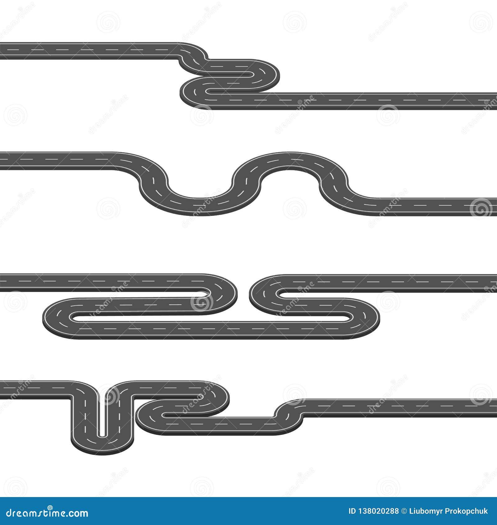 Wektorowa ilustracja wiele mapa drogowa z wiele pointer