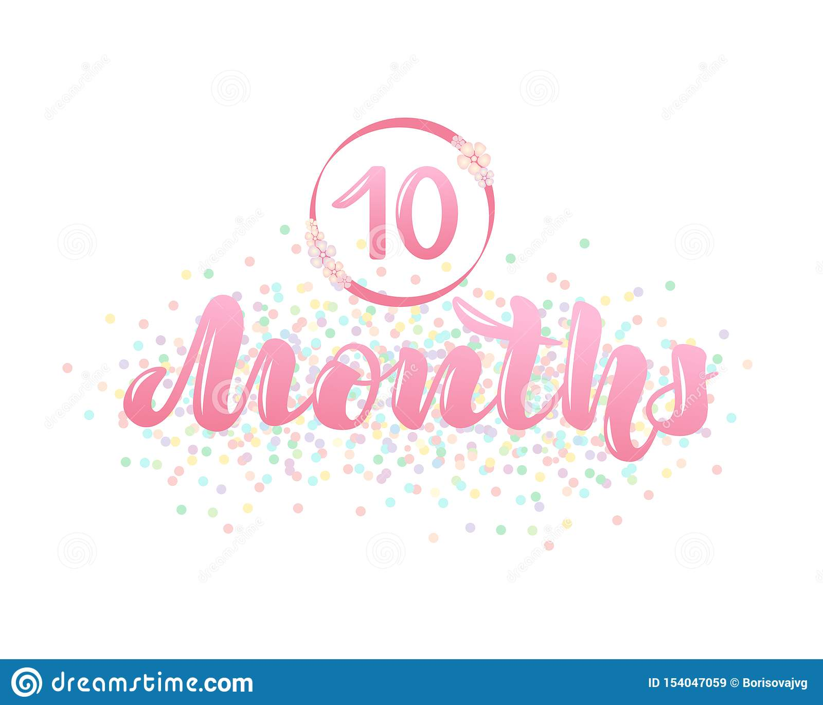 Wektorowa ilustracja z dziecko wieka markierem - 10 miesięcy