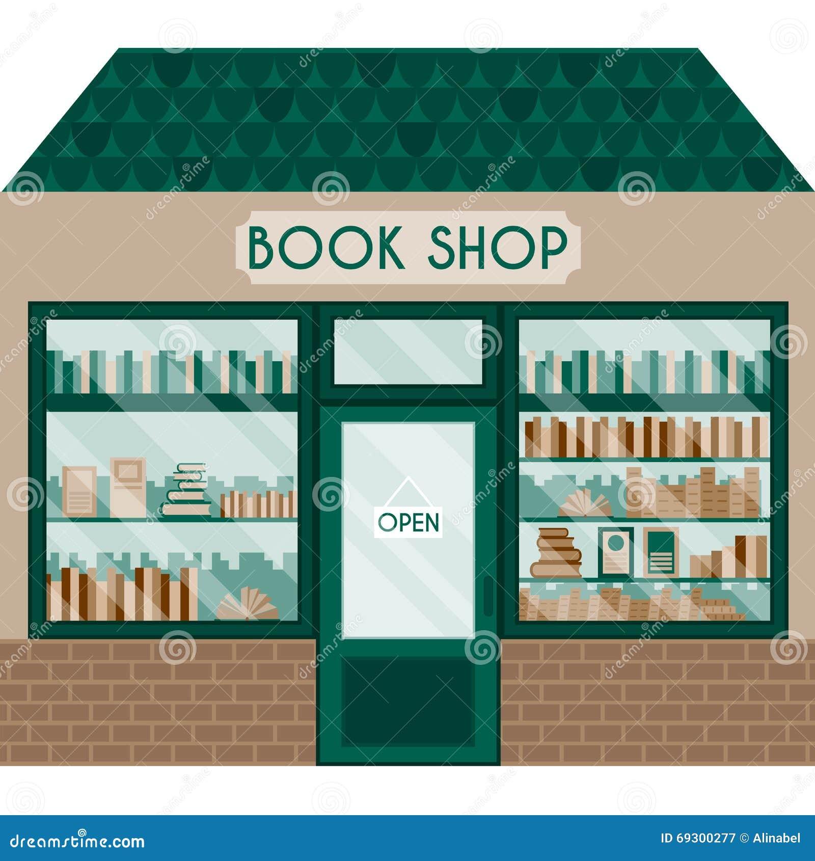 Wektorowa ilustracja z książkowym sklepem