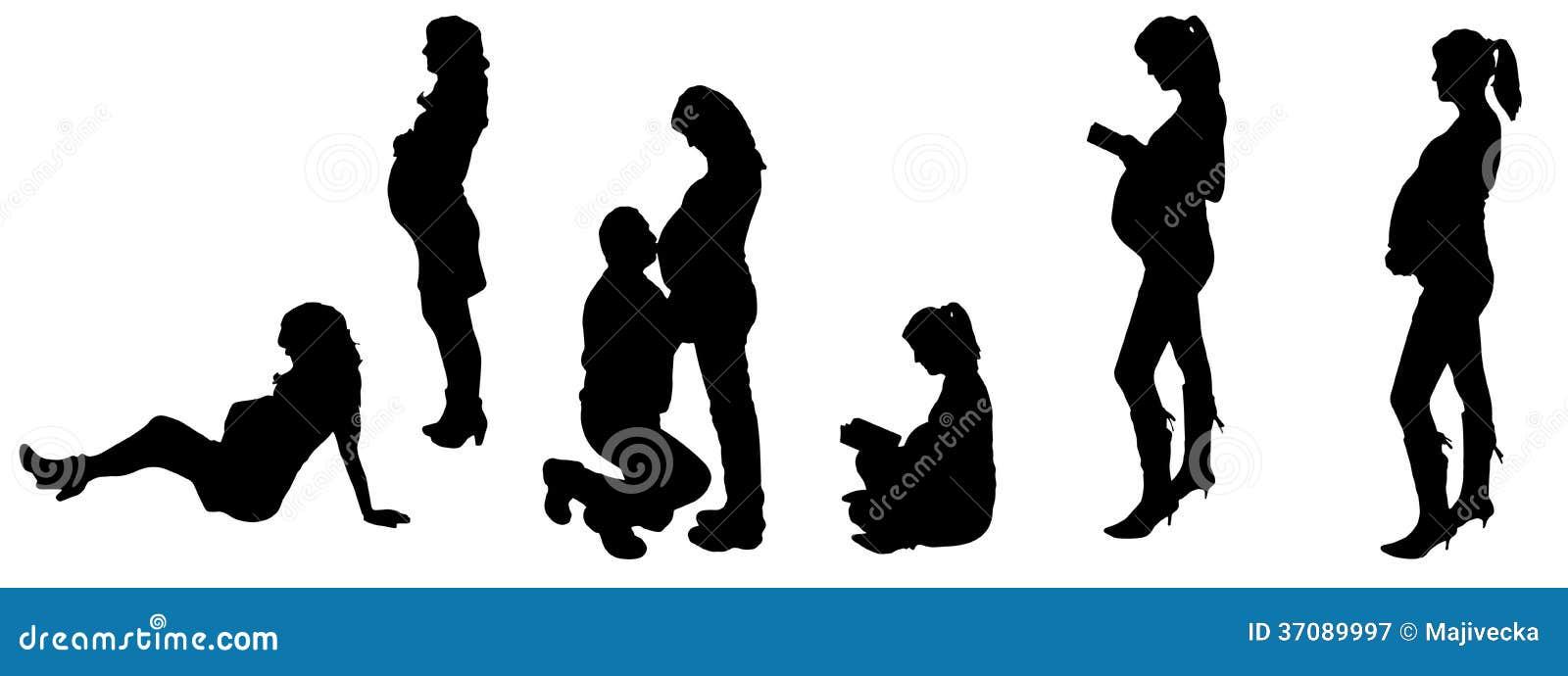 Download Wektorowa Ilustracja Z Rodzinnymi Sylwetkami. Ilustracja Wektor - Ilustracja złożonej z mężczyzna, małżeństwo: 37089997