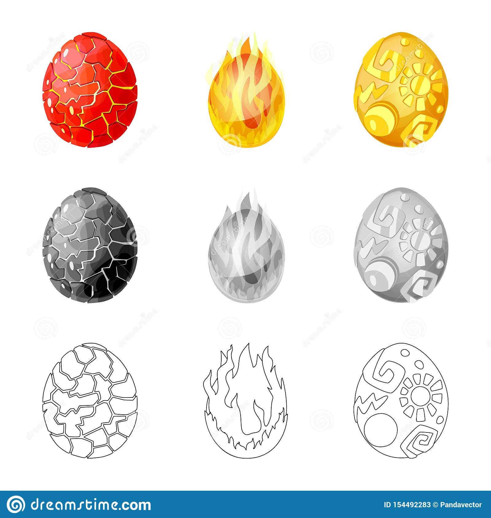Wektorowa ilustracja zwierz?cy i prehistoryczny symbol Set zwierz?ca i ?liczna akcyjna wektorowa ilustracja