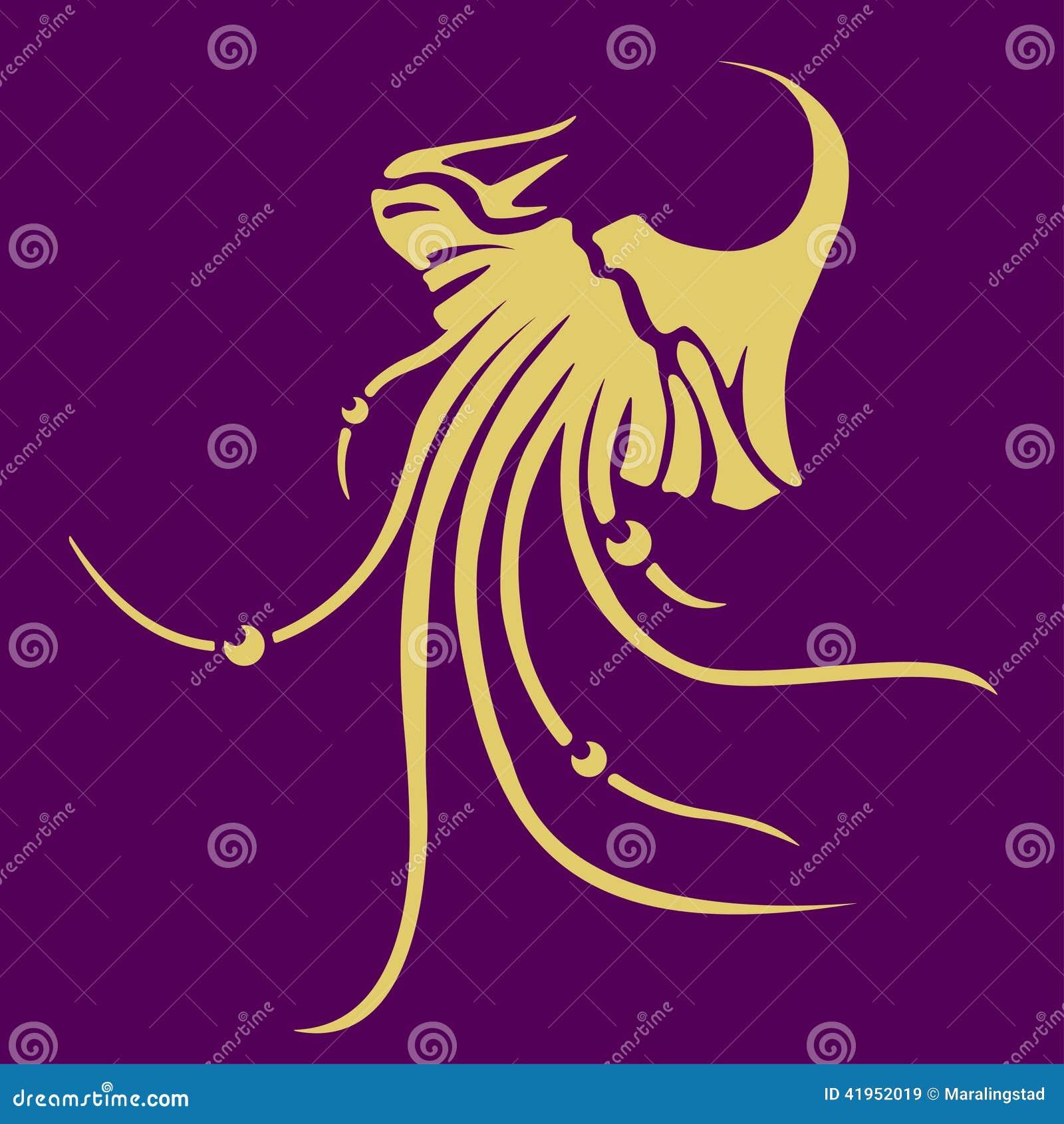 Wektorowa jellyfish ikona