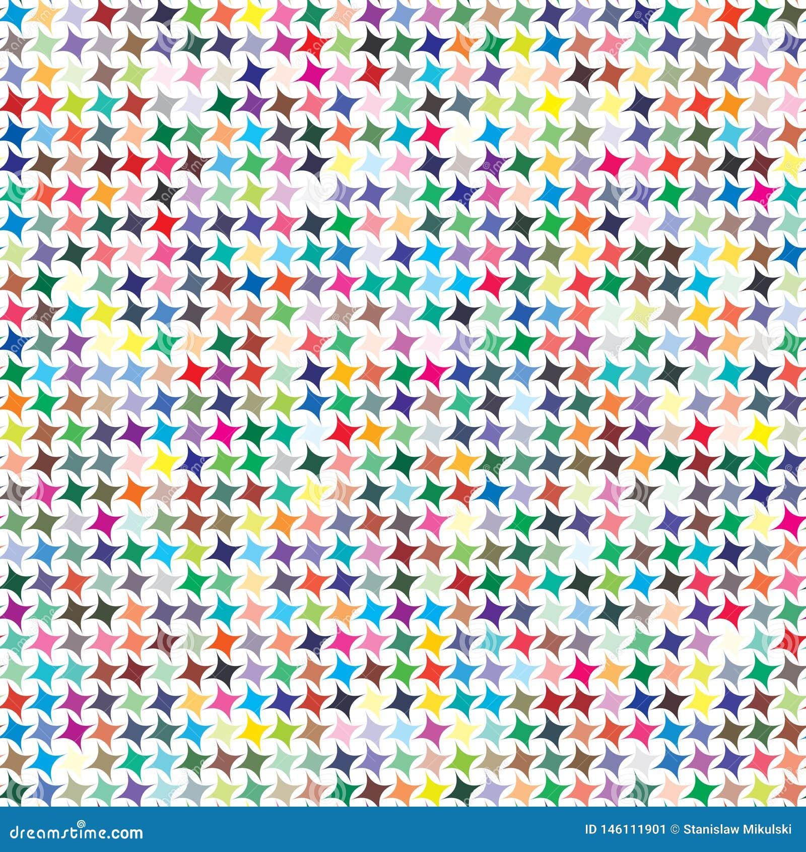 Wektorowa kolor paleta 729 różnych kolorów w kształtach wskazywać gwiazdy