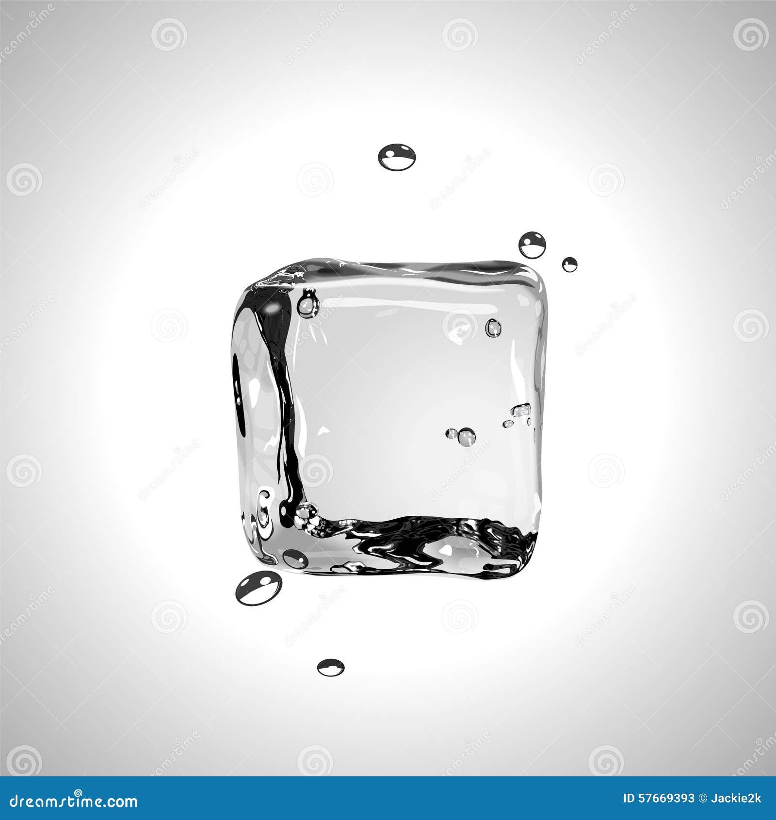 Wektorowa kostka lodu EPS10