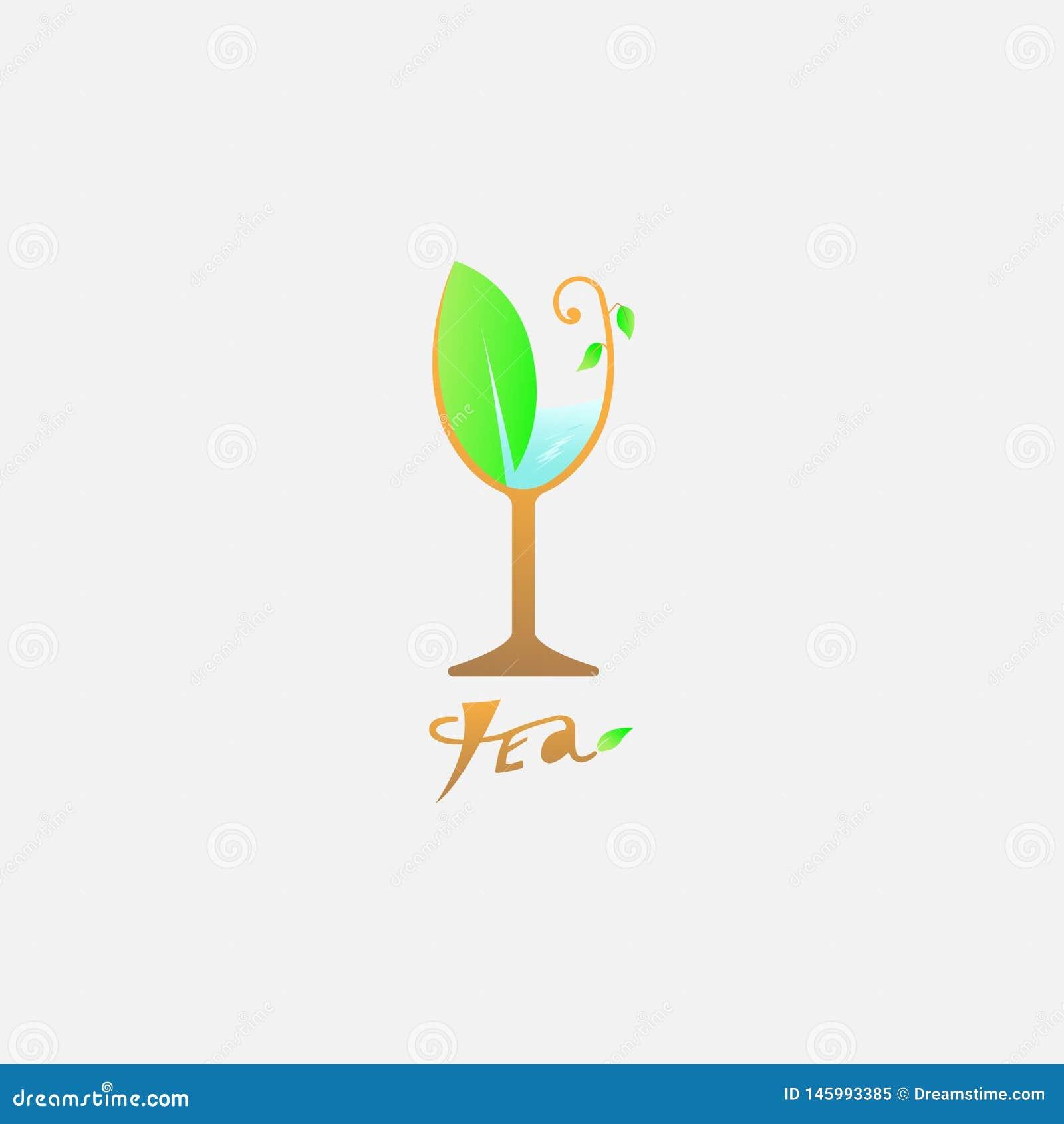Wektorowa logo herbata