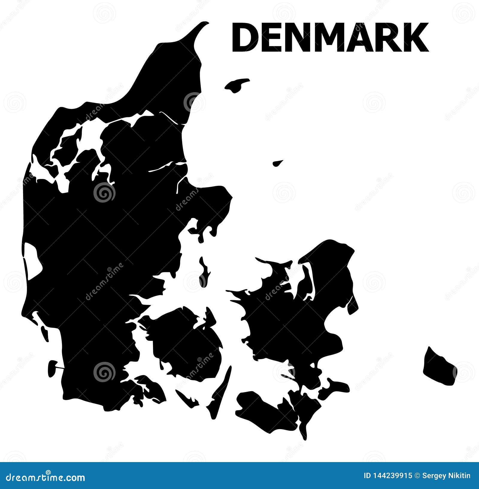 Wektorowa Płaska mapa Dani z imieniem