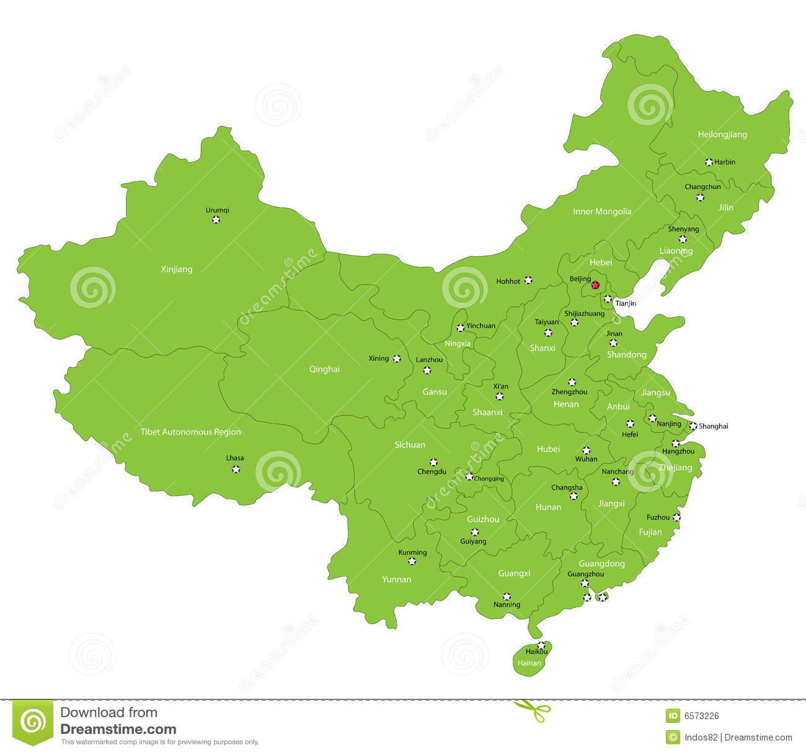 Wektorowa Porcelanowa mapa