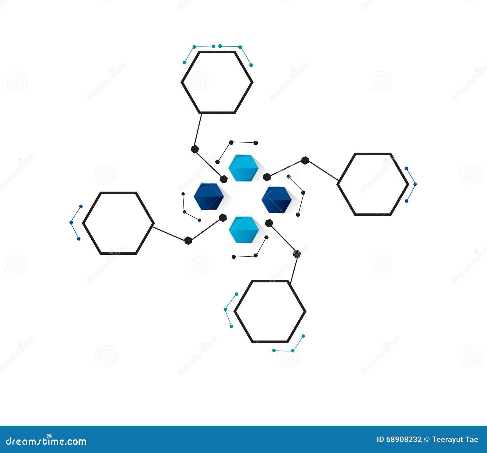 Wektorowa projekt technologia, sieci tło