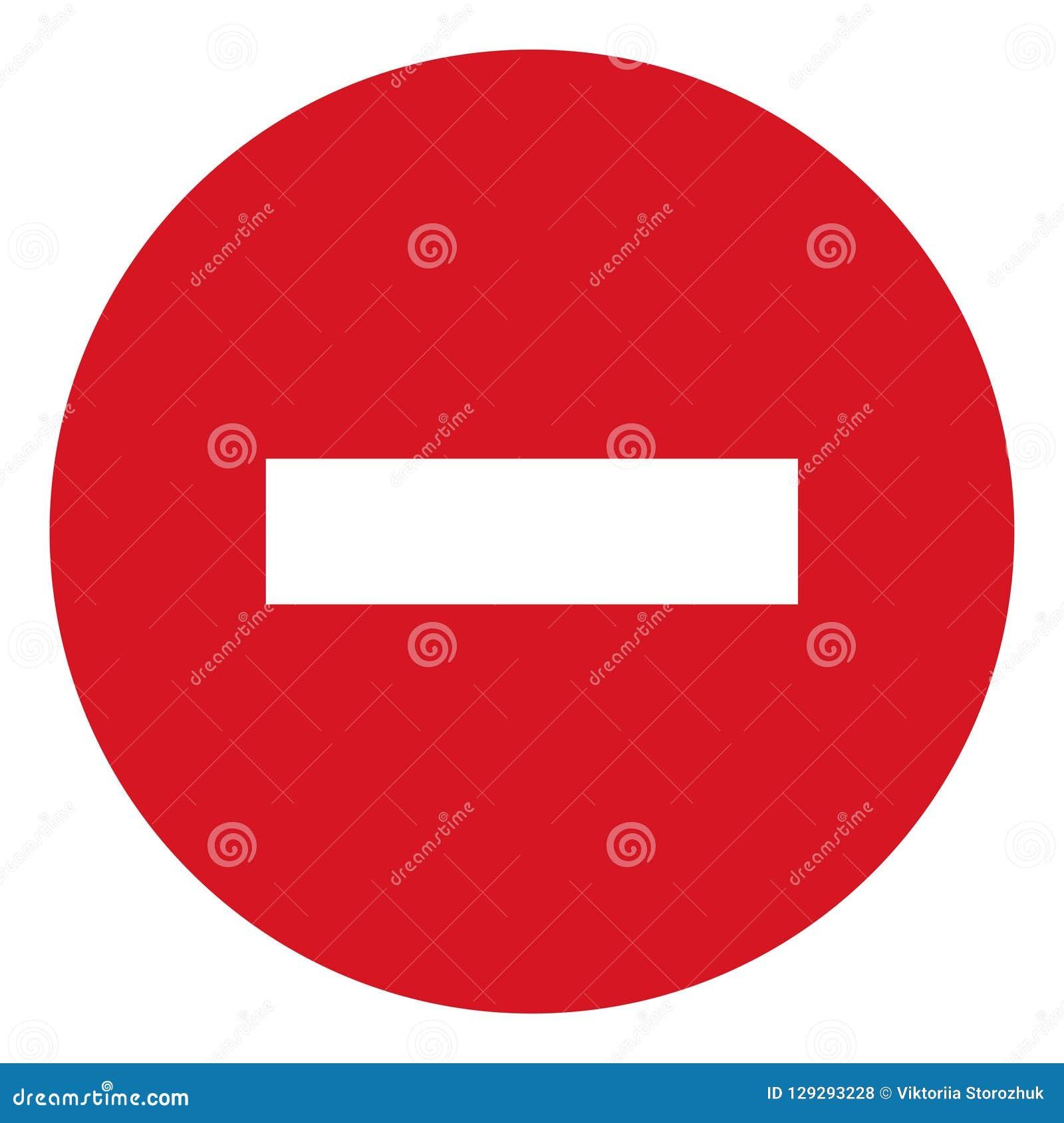 Wektorowa przerwy ikona, zabroniony przejście, przerwy szyldowa ikona, żadny hasłowy znak na białym tle, czerwony przerwa logo, p