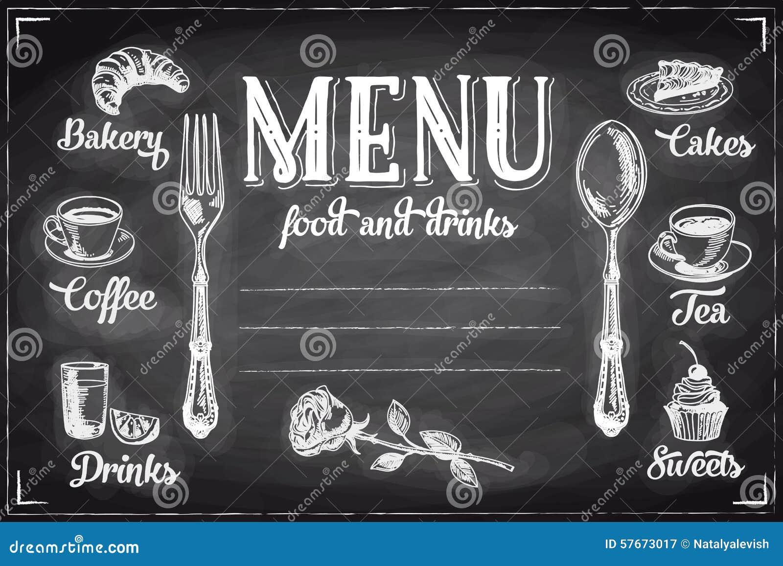 Wektorowa ręka rysujący śniadania i gałąź tło