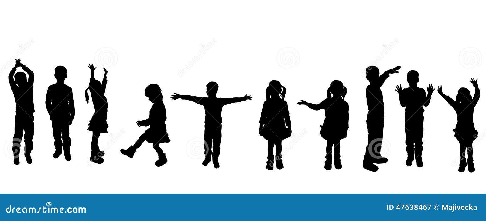 Wektorowa sylwetka dzieci