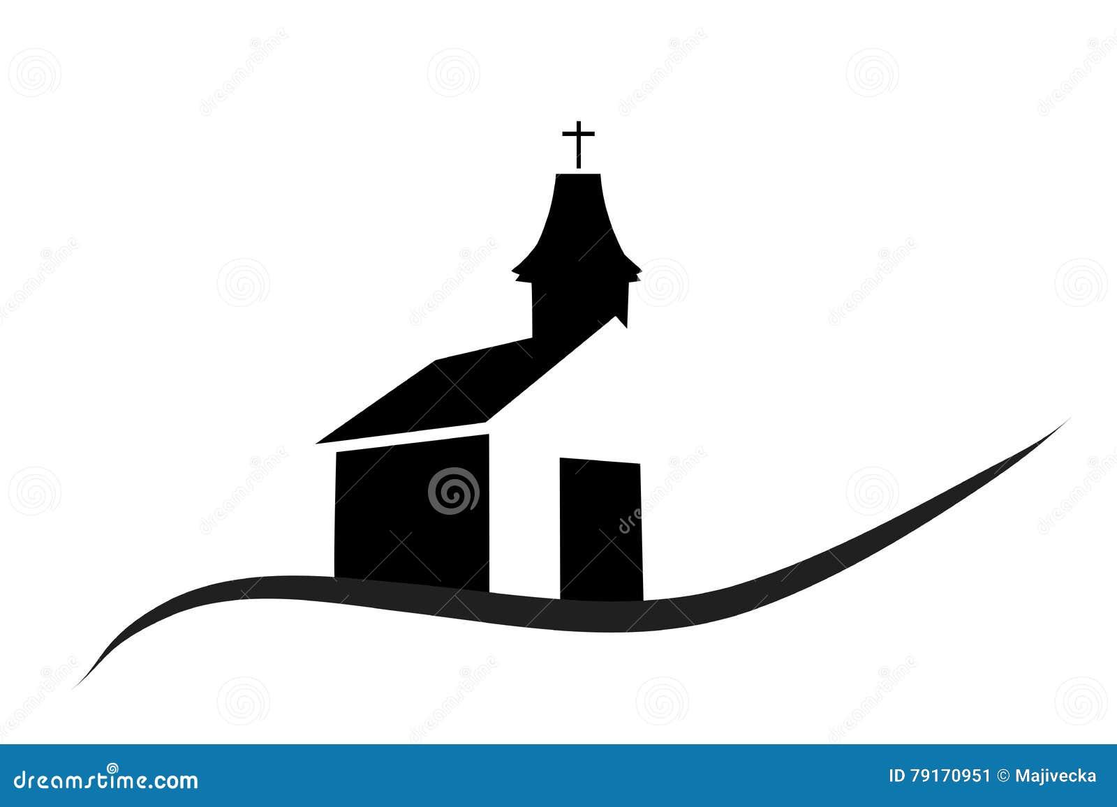 Wektorowa sylwetka kościół