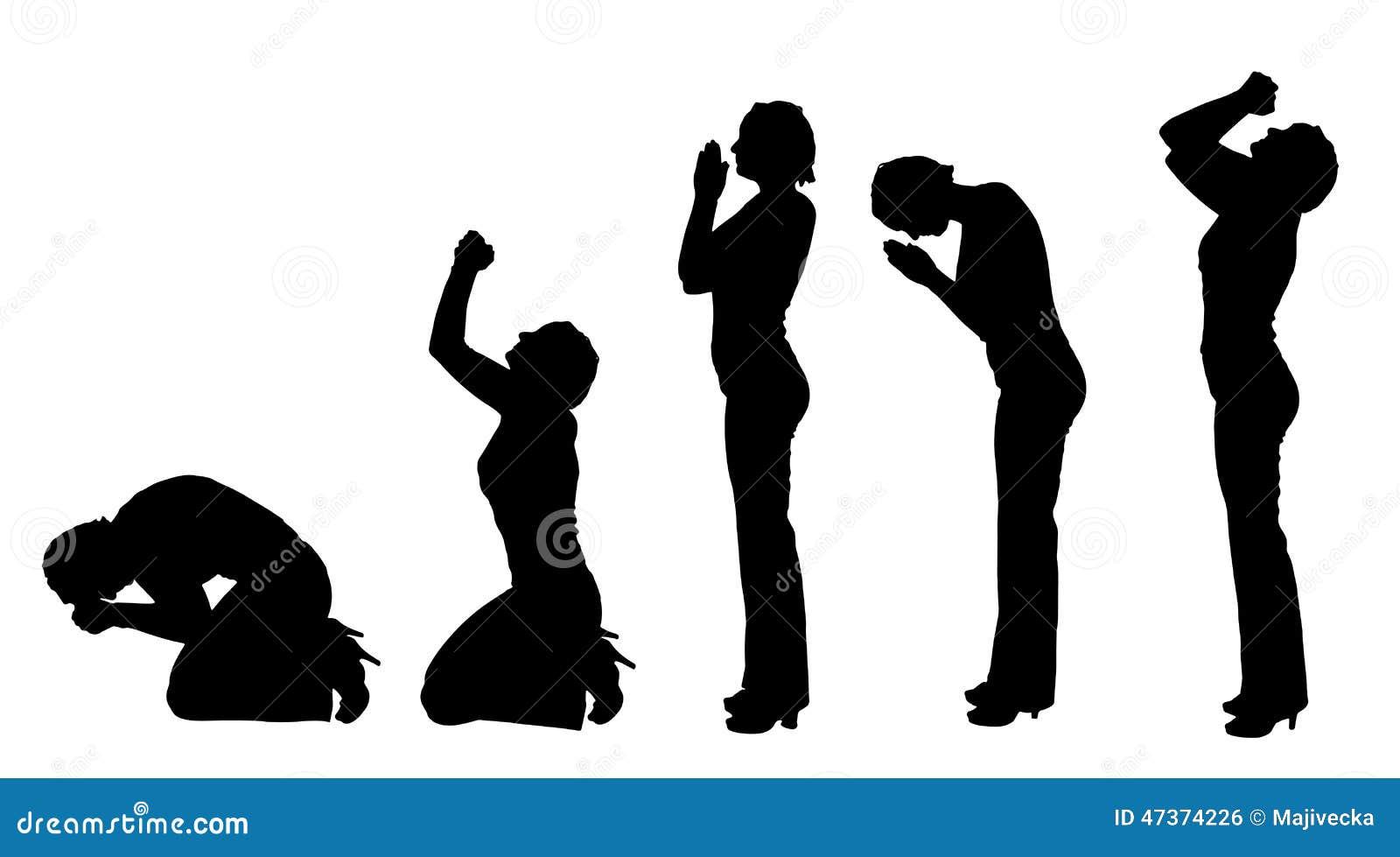 Wektorowa sylwetka kobieta