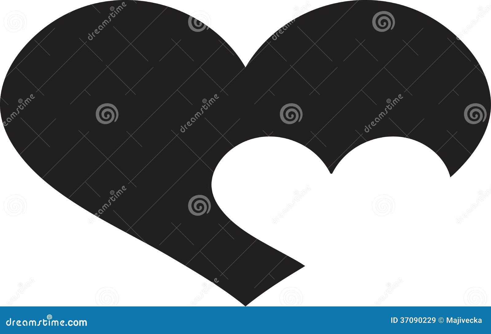 Download Wektorowa Sylwetki Ilustracja Serce. Ilustracja Wektor - Ilustracja złożonej z szczęście, heart: 37090229