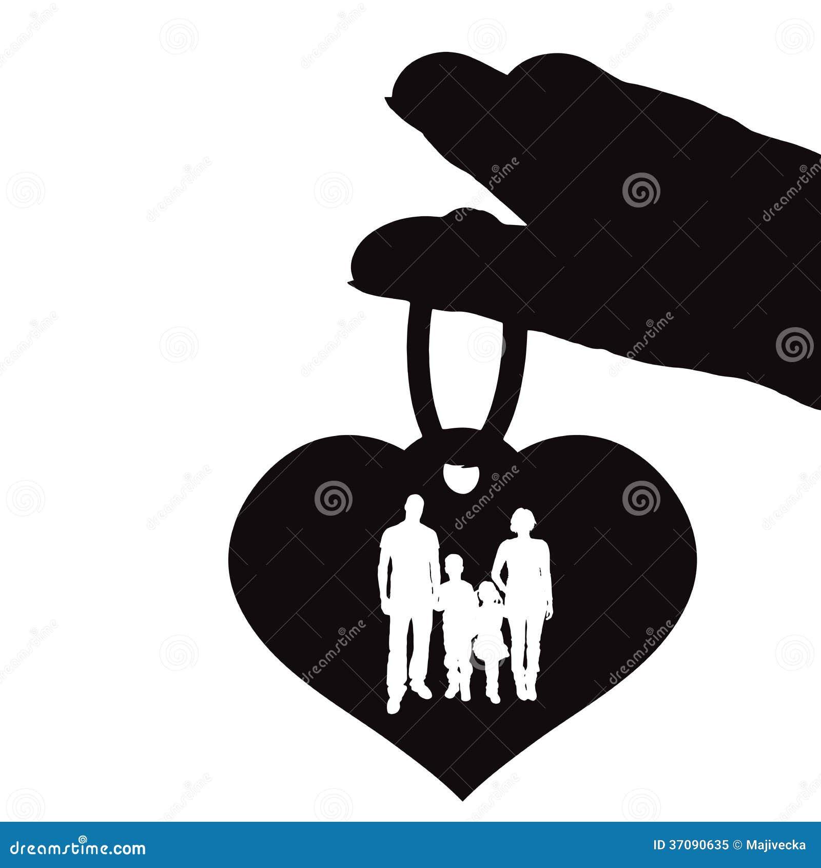 Download Wektorowa Sylwetki Ilustracja Serce. Ilustracja Wektor - Ilustracja złożonej z małżeństwo, miłość: 37090635