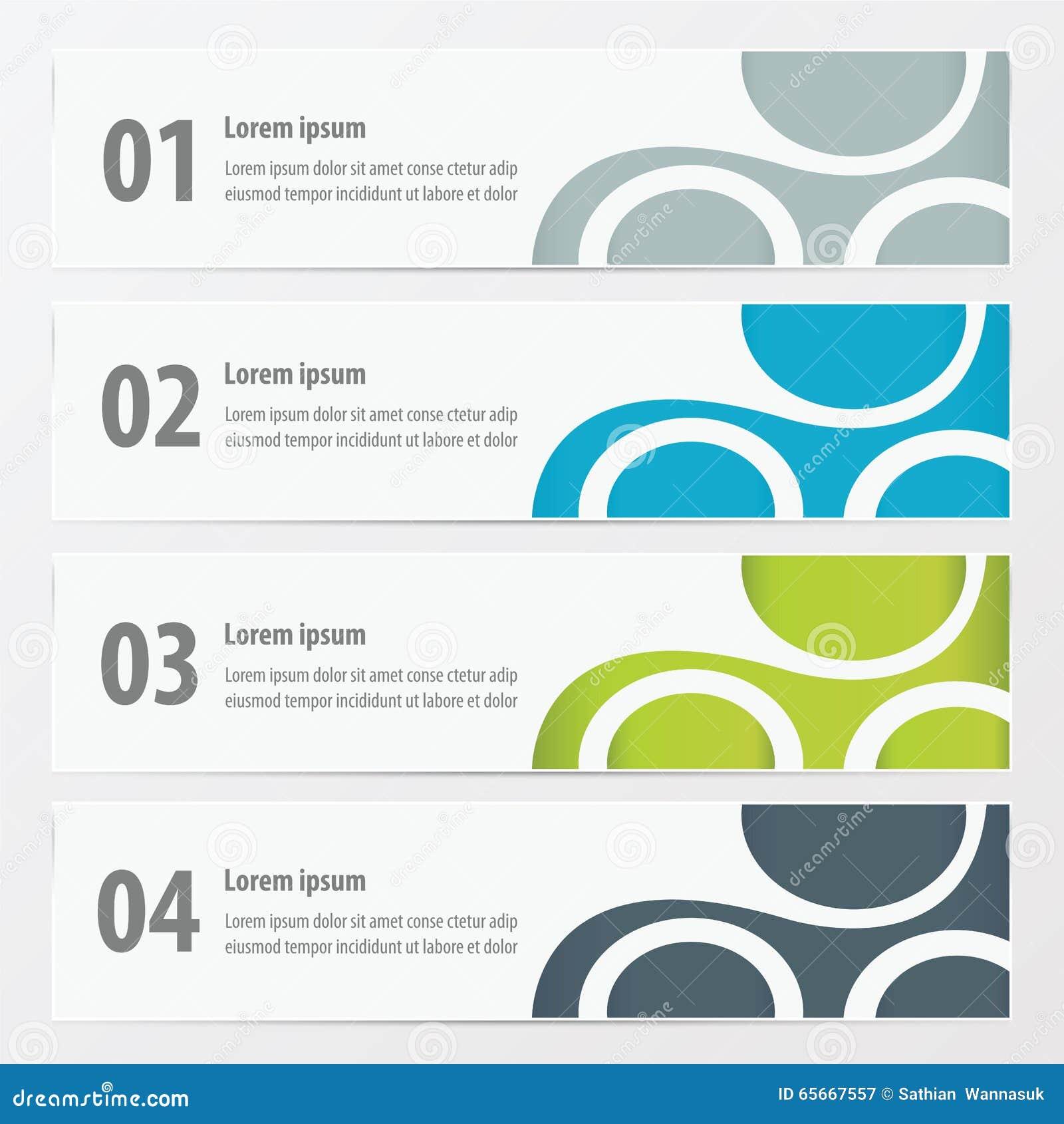 Wektorowa sztandar zieleń, błękit, szarość barwi
