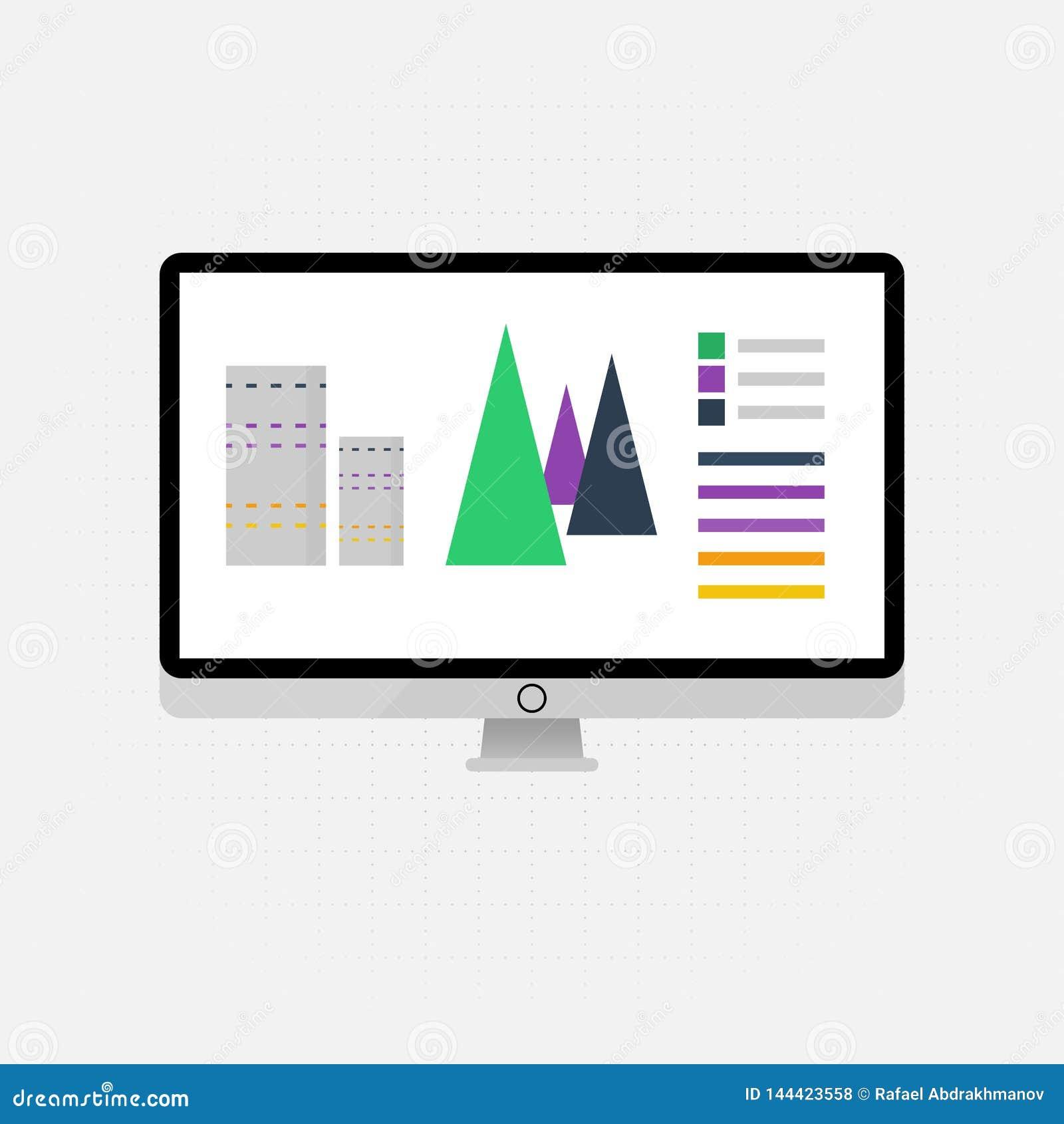Wektorowe ikony i znaki zarządzania, marketingu i duża dane analiza i pieniężny biznes infographic dla pojęcia