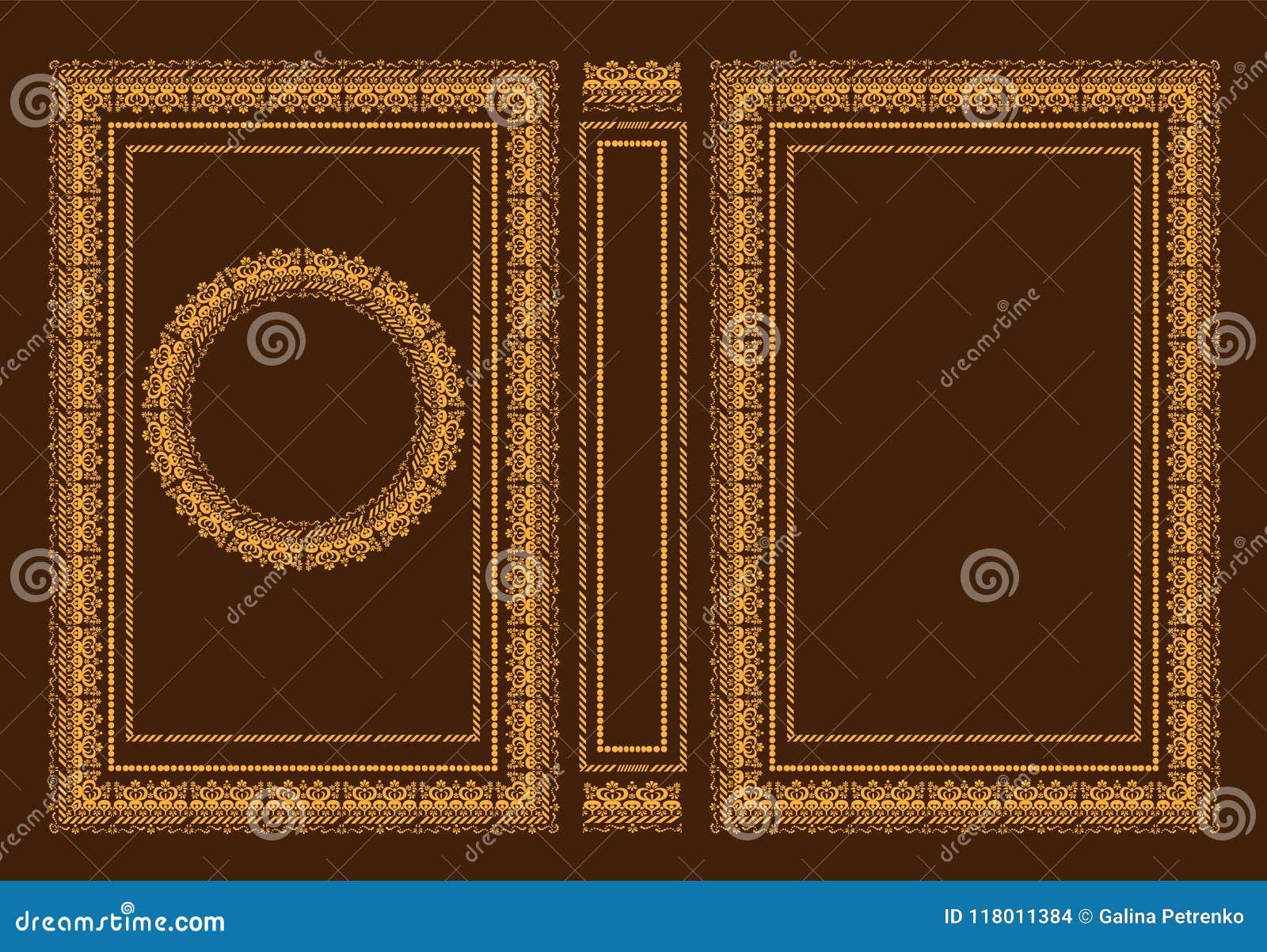 Wektorowe klasyczne książkowe pokrywy Dekoracyjna antyk rama lub rama dla drukować na książkowych pokrywach Ja rysuje standardowy
