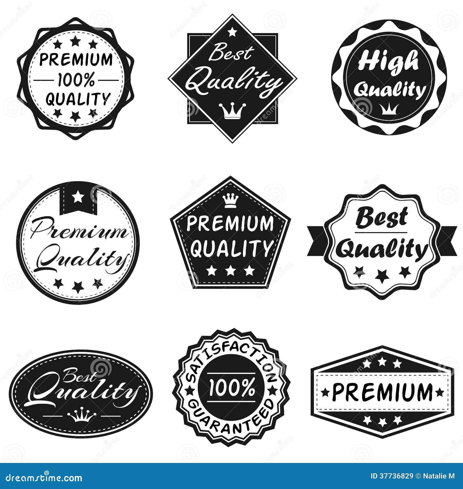Wektorowe odznaki Ustawiają 2