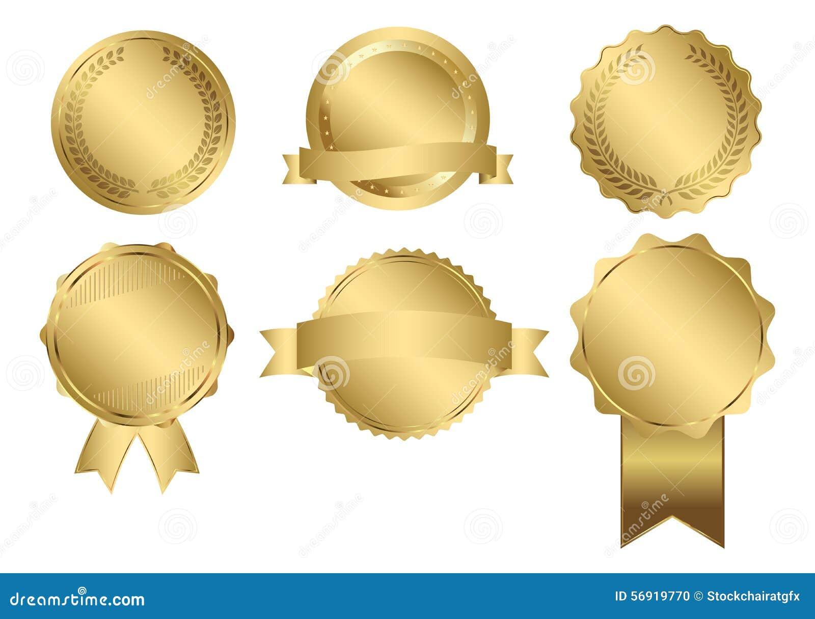 Wektorowe odznaki Złocista foka