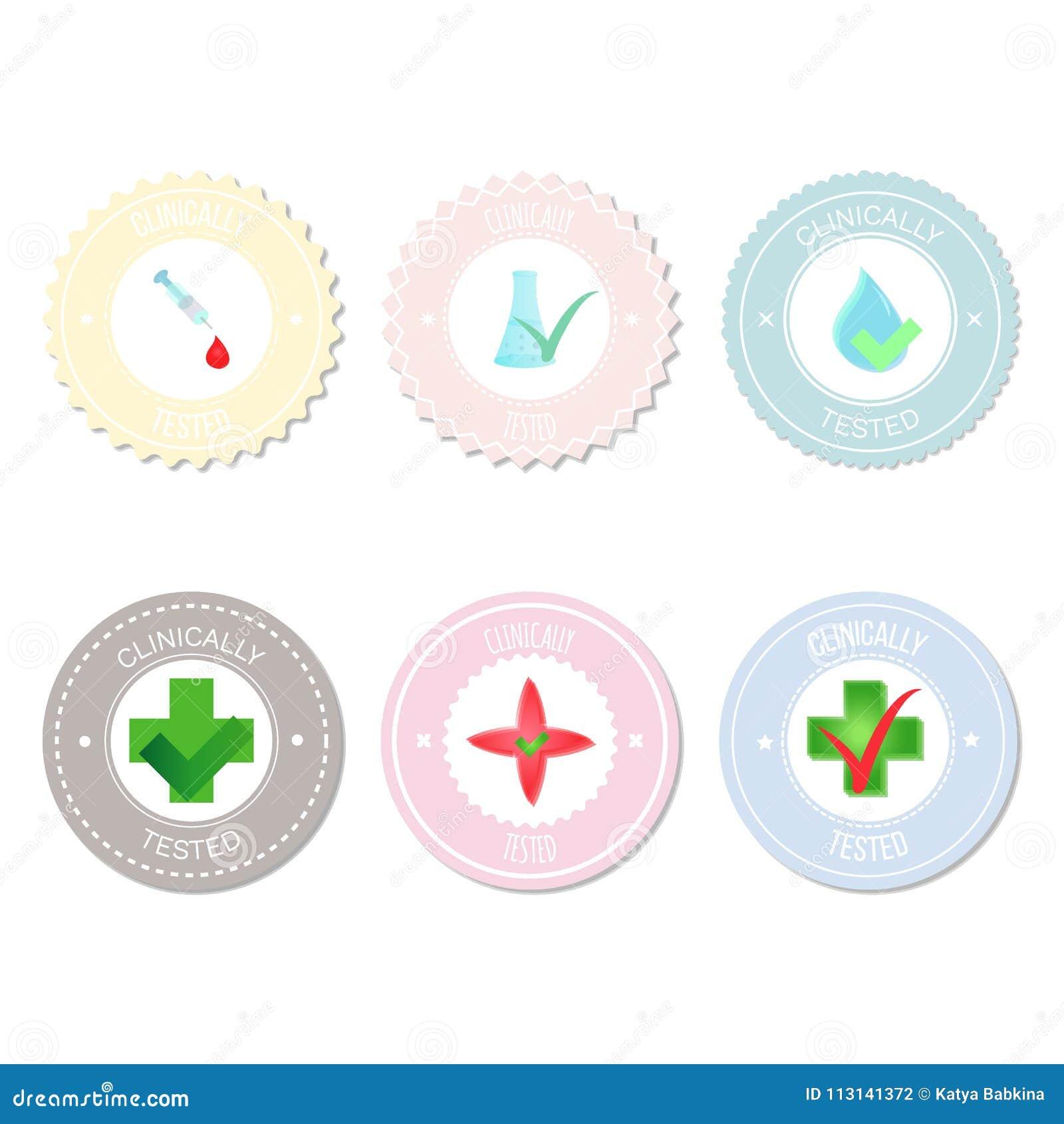 Wektorowe okrąg etykietki, majchery, odznaka dla produktów, ikony
