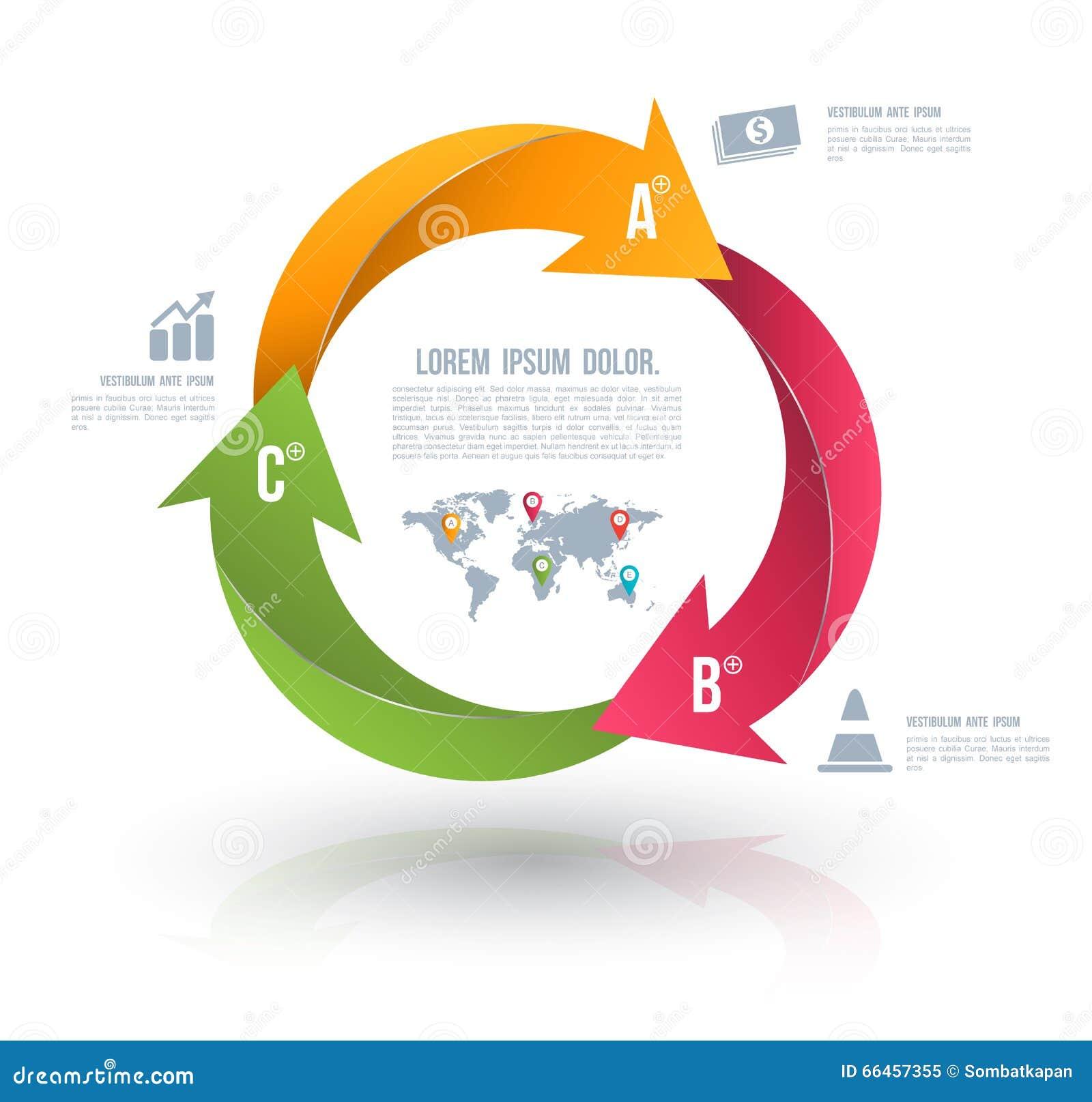 Wektorowe okrąg strzała dla infographic
