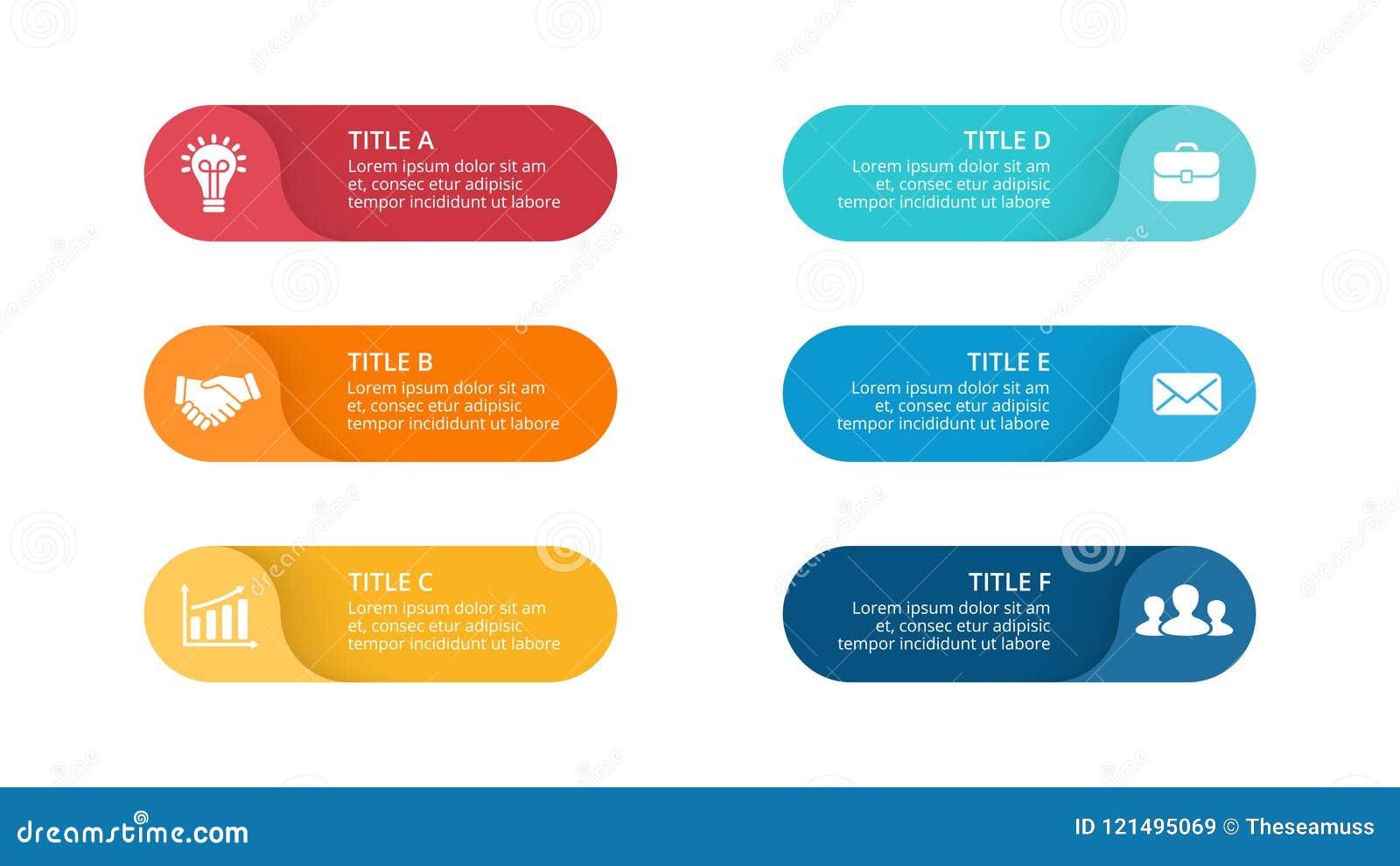 Wektorowe okrąg strzała infographic, cyklu diagram, etykietki wykres, majcher prezentaci mapa Biznesowy pojęcie z 6