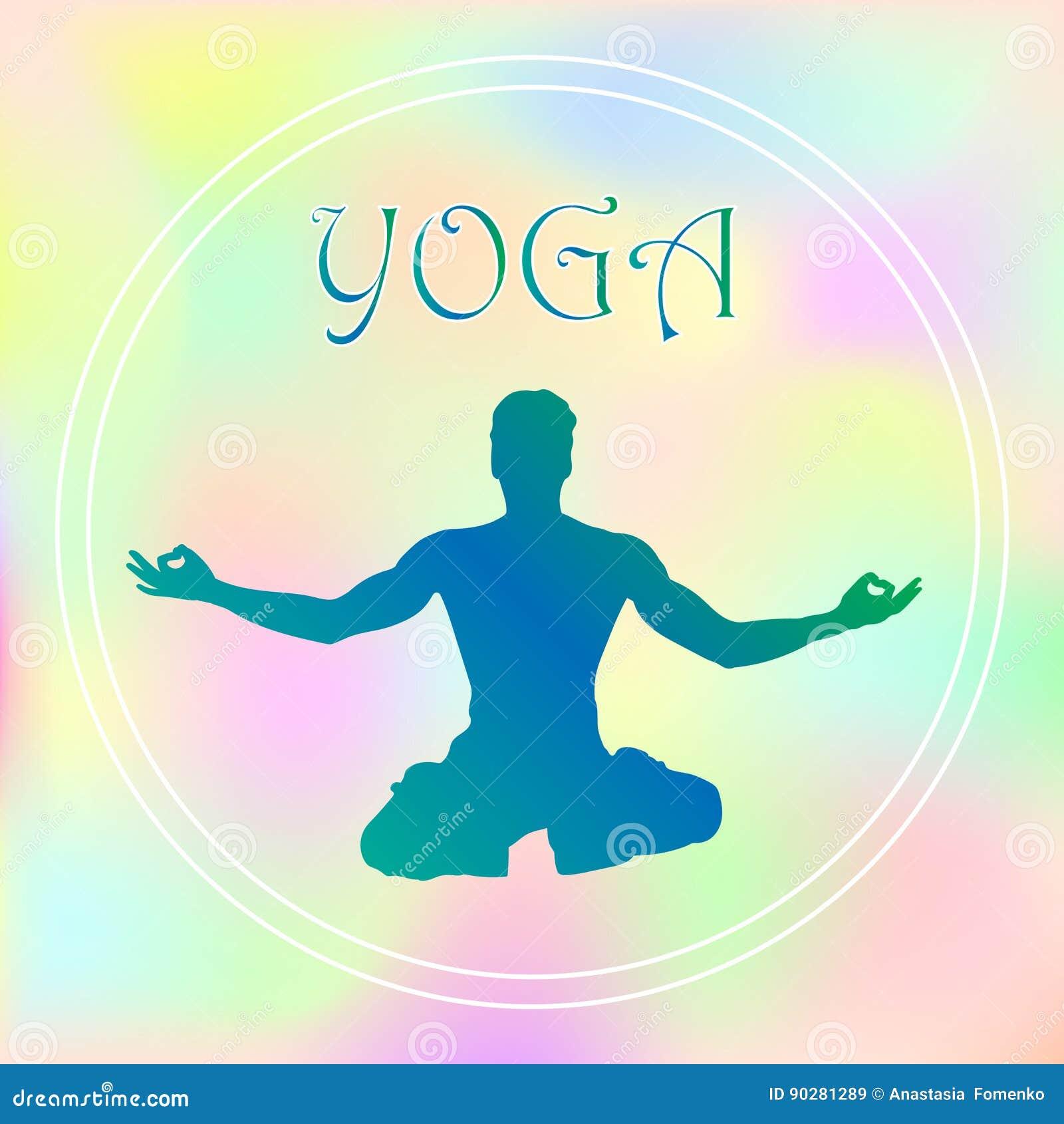 Wektorowe pociągany ręcznie joga pozy w z różnymi równoważenie pozycjami modlitwa i medytacja w lotosie pozują zdrowie i sprawnoś