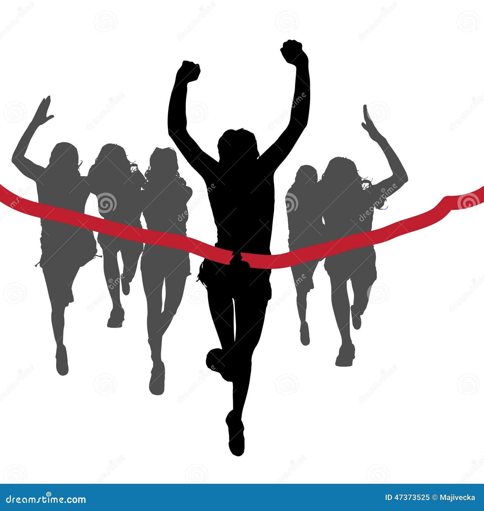 Wektorowe sylwetki biegacze