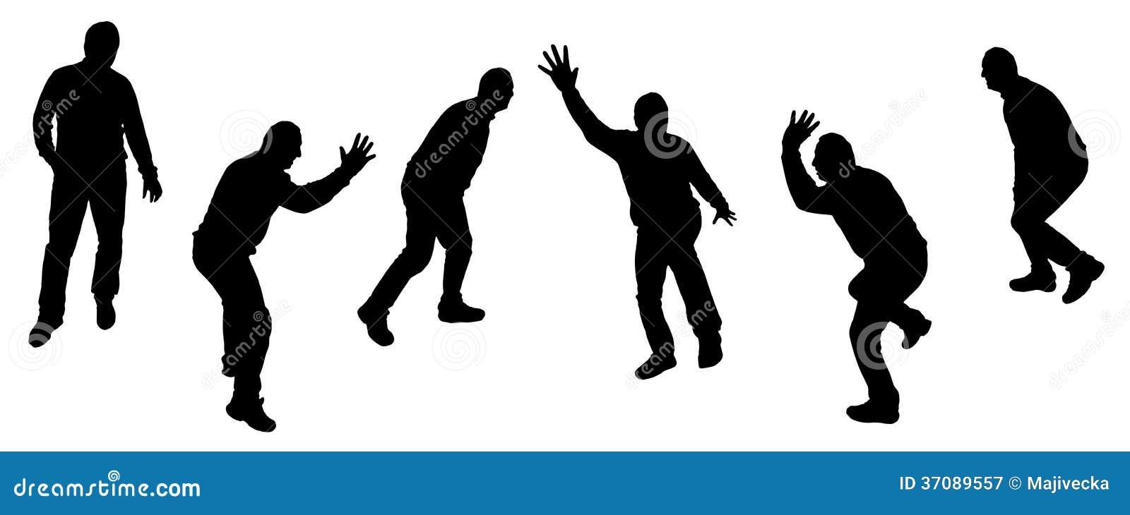 Download Wektorowe Sylwetki Tanów Ludzie. Ilustracja Wektor - Ilustracja złożonej z chmiel, chłopiec: 37089557