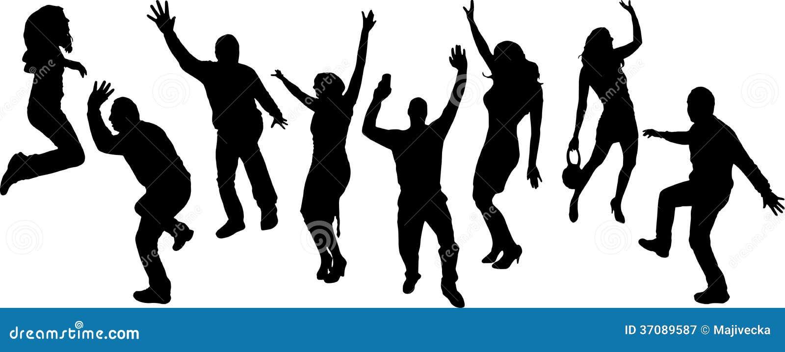 Download Wektorowe Sylwetki Tanów Ludzie. Ilustracja Wektor - Ilustracja złożonej z szczęśliwy, dyskoteka: 37089587