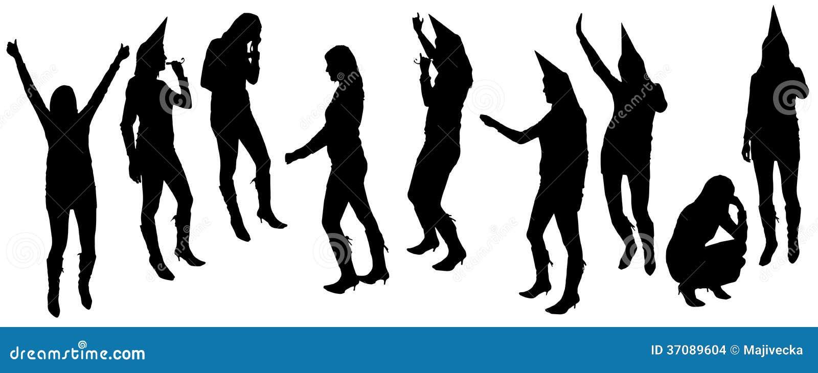 Download Wektorowe Sylwetki Tanów Ludzie. Ilustracja Wektor - Ilustracja złożonej z femaleness, bluza: 37089604