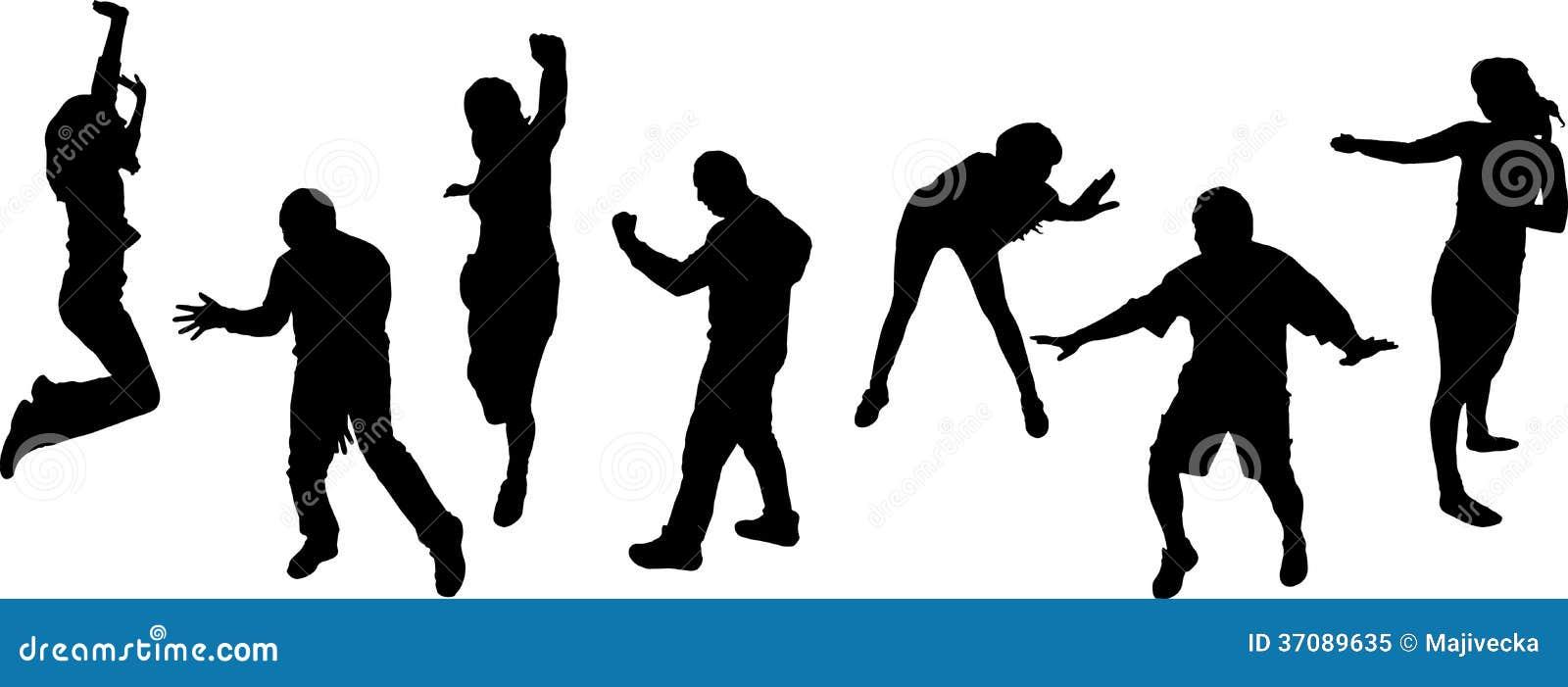 Download Wektorowe Sylwetki Tanów Ludzie. Ilustracja Wektor - Ilustracja złożonej z kombinezon, przyjaciele: 37089635