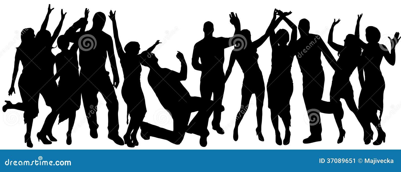 Download Wektorowe Sylwetki Tanów Ludzie. Ilustracja Wektor - Ilustracja złożonej z muzyka, tancerz: 37089651