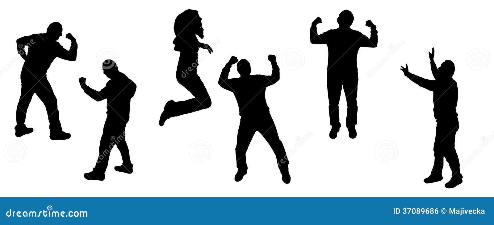 Download Wektorowe Sylwetki Tanów Ludzie. Ilustracja Wektor - Ilustracja złożonej z tło, mężczyzna: 37089686