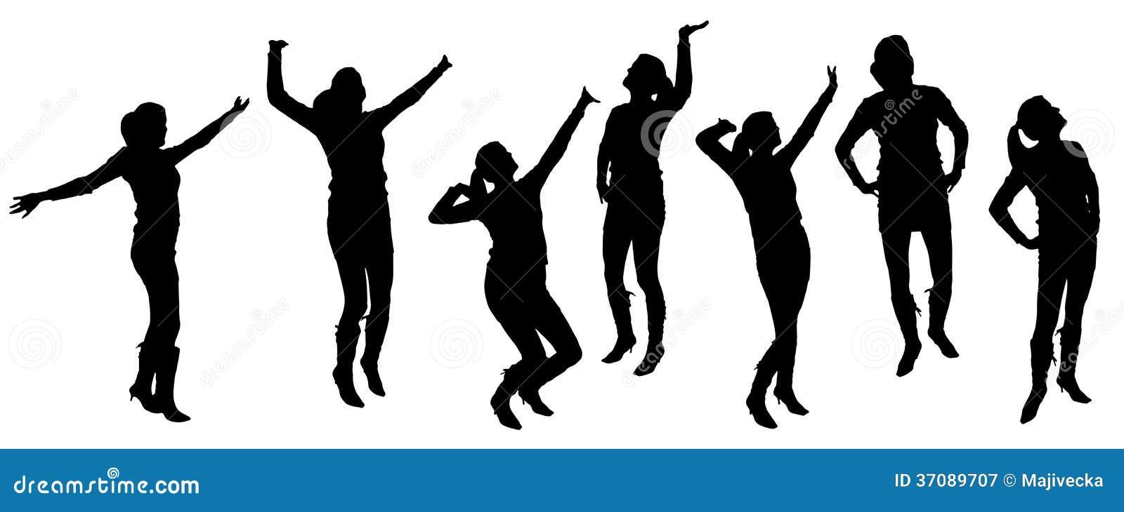 Download Wektorowe Sylwetki Tanów Ludzie. Ilustracja Wektor - Ilustracja złożonej z tło, tłum: 37089707