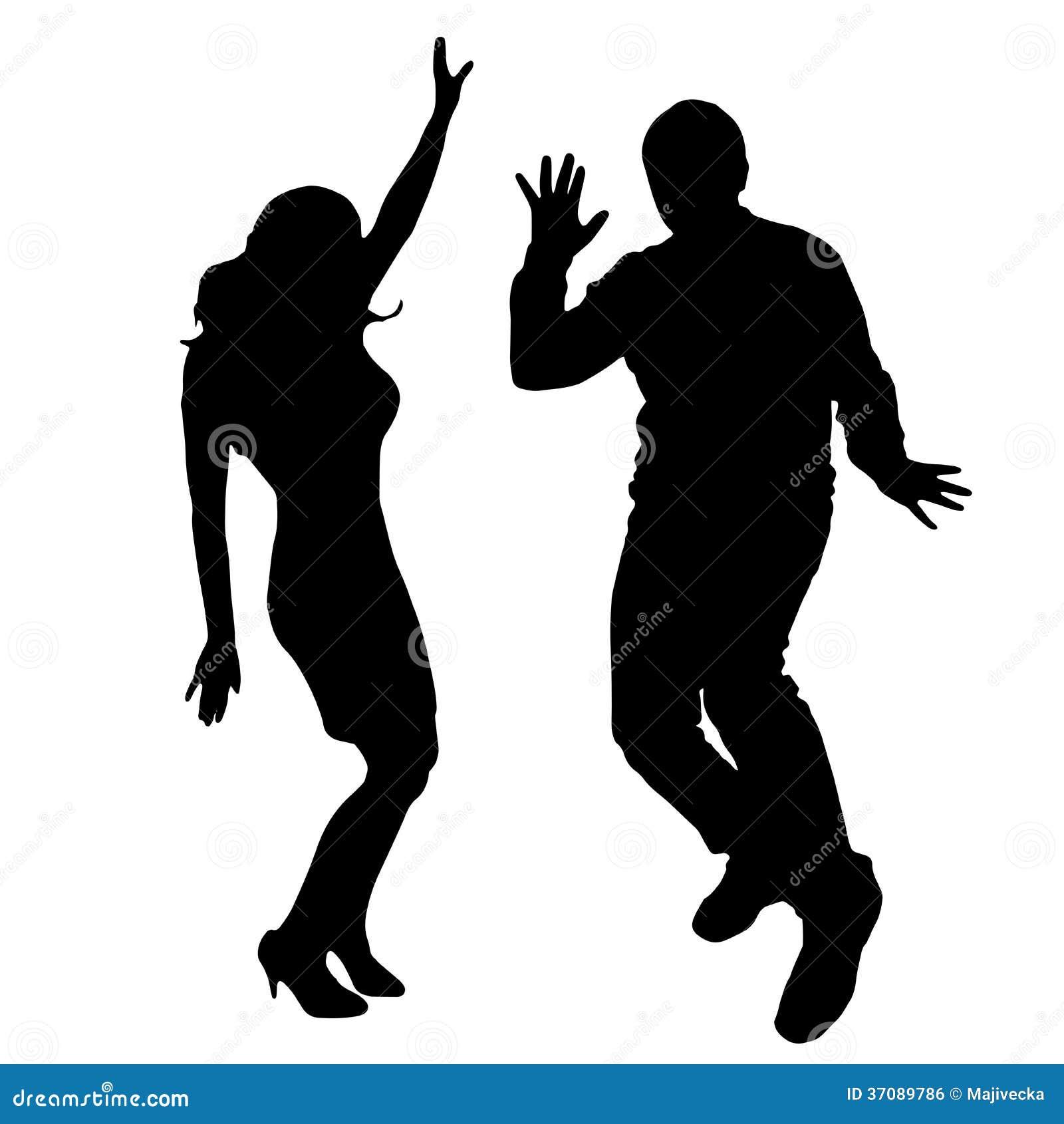 Download Wektorowe Sylwetki Tanów Ludzie. Ilustracja Wektor - Ilustracja złożonej z świętowanie, ilustracje: 37089786