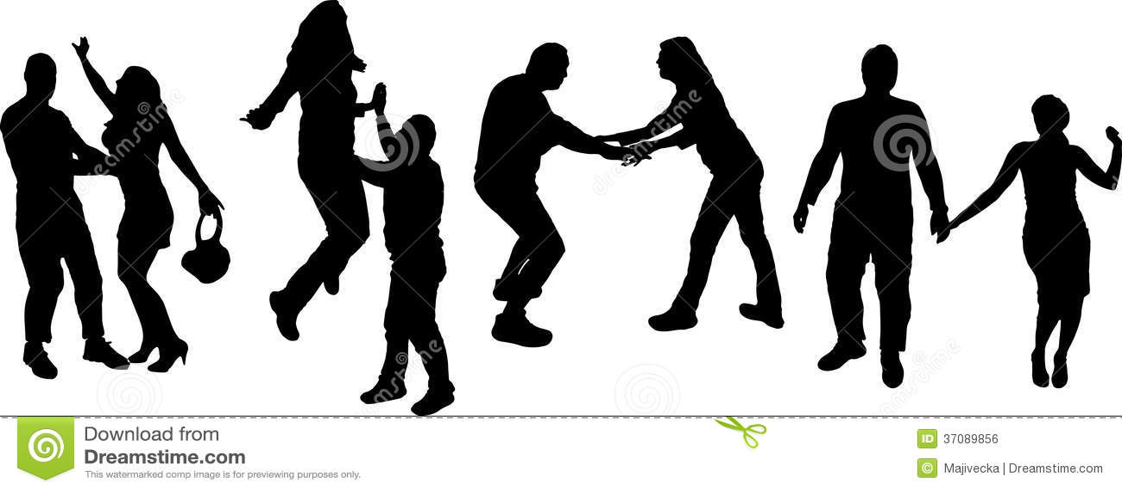 Download Wektorowe Sylwetki Tanów Ludzie. Ilustracja Wektor - Ilustracja złożonej z dzieciak, dzieciaki: 37089856