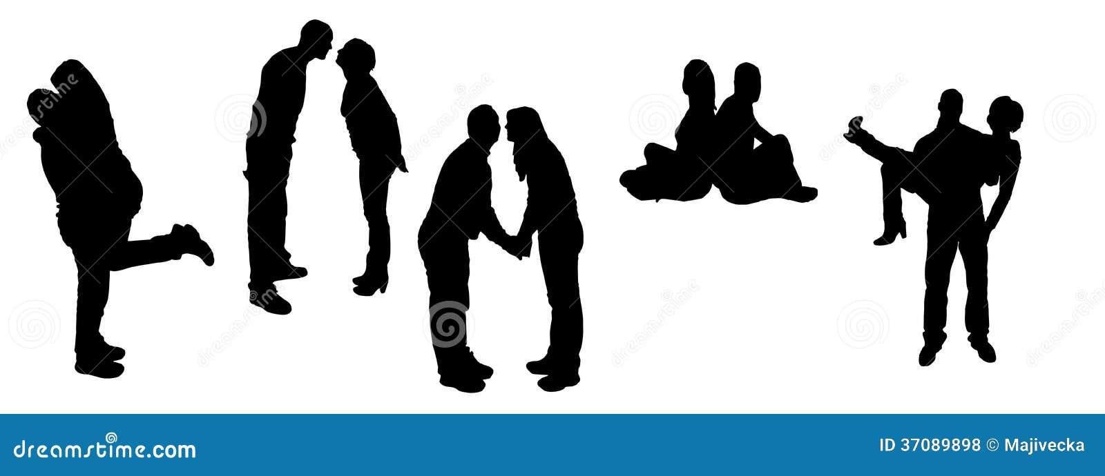 Download Wektorowe Sylwetki Tanów Ludzie. Ilustracja Wektor - Ilustracja złożonej z zabawa, biodro: 37089898