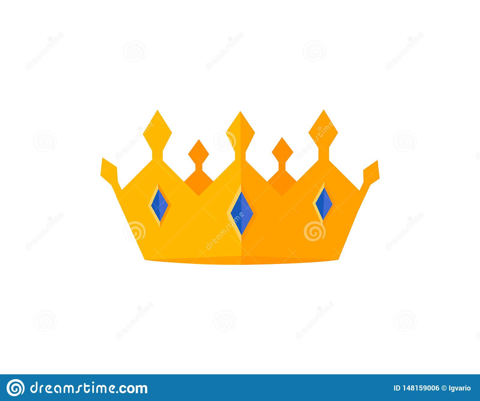 Wektorowe z?oto korony