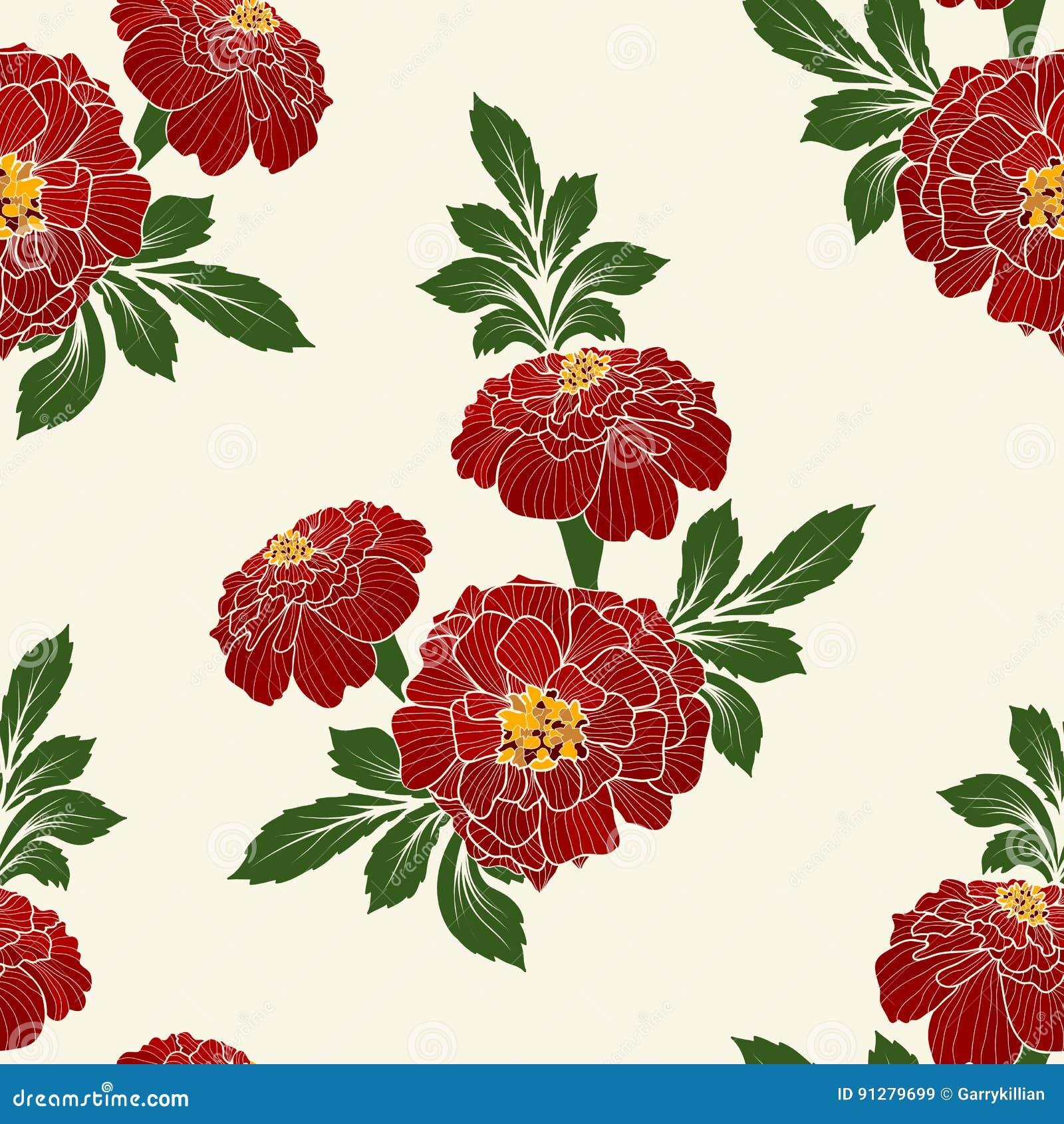 Wektorowego kwiatu bezszwowy deseniowy element Elegancka tekstura dla tło Klasyczny luksusowy staromodny kwiecisty ornament