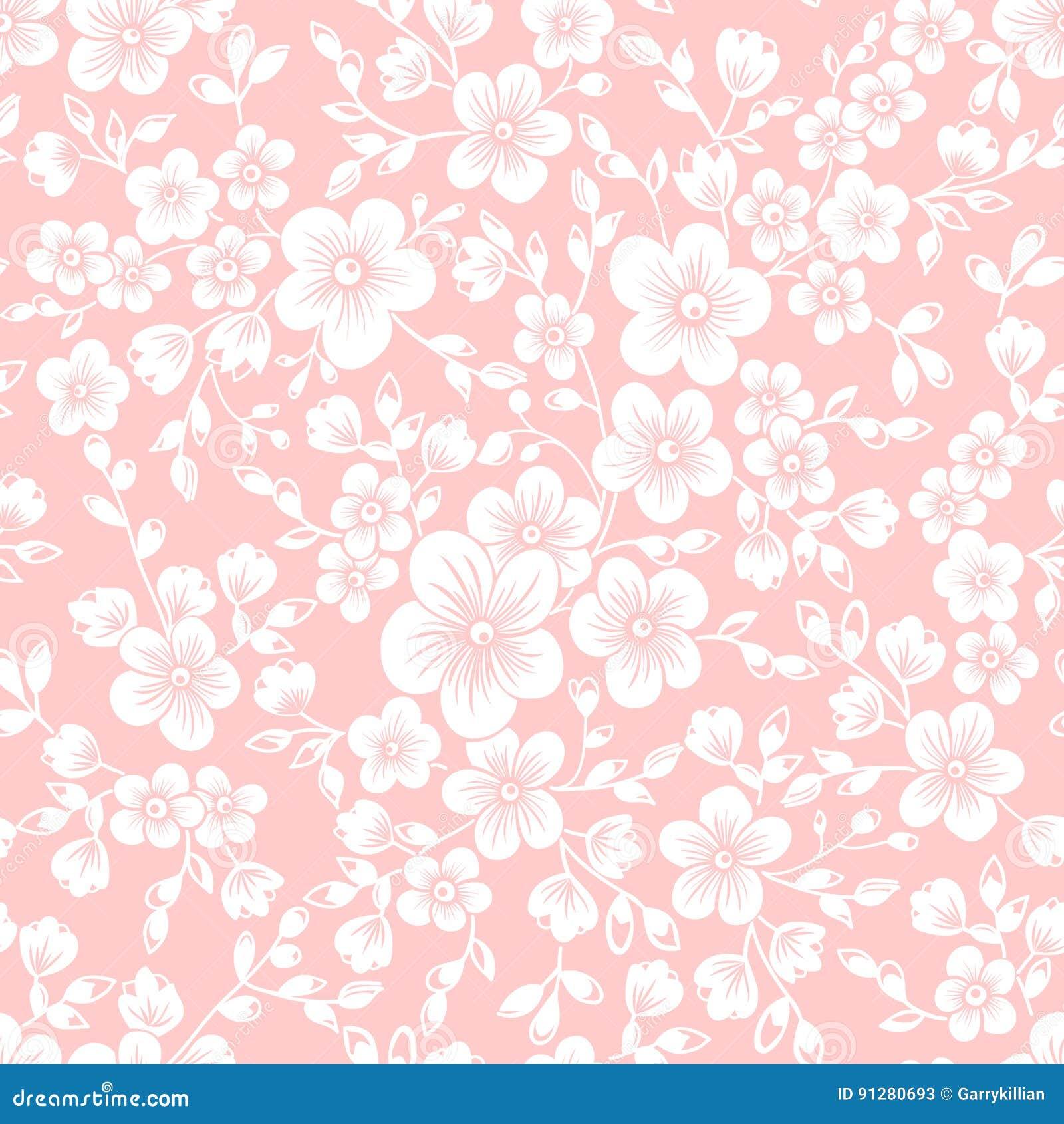 Wektorowego Sakura kwiatu bezszwowy deseniowy element Elegancka tekstura dla tło Czereśniowy okwitnięcie