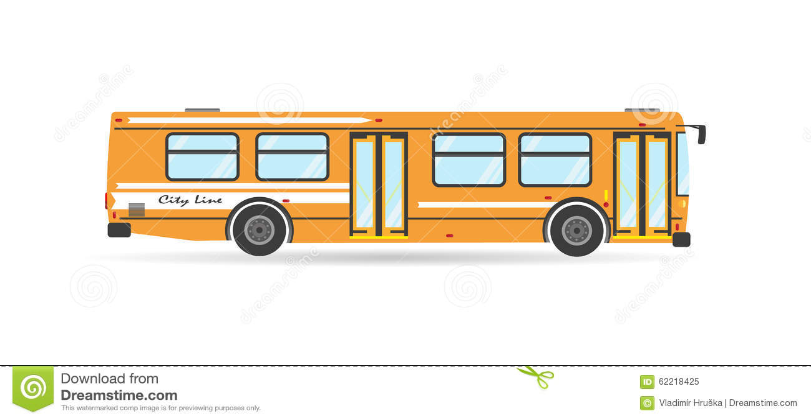 Wektorowego transportu płaskiego miasta przelotowy autobusowy pojazd
