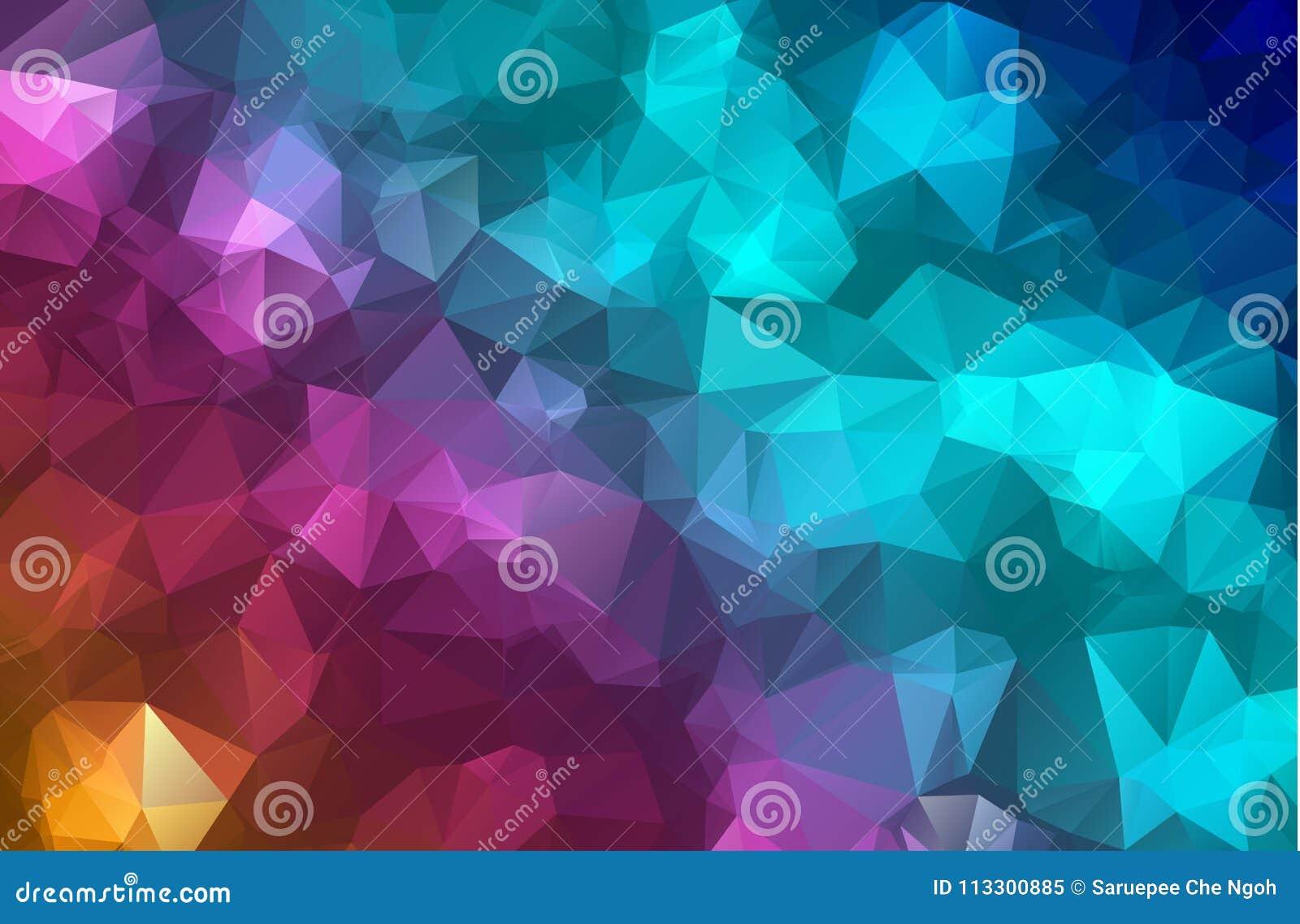 Wektorowego wieloboka trójboka Abstrakcjonistyczny nowożytny Poligonalny Geometryczny tło Kolorowy Geometryczny trójboka tło