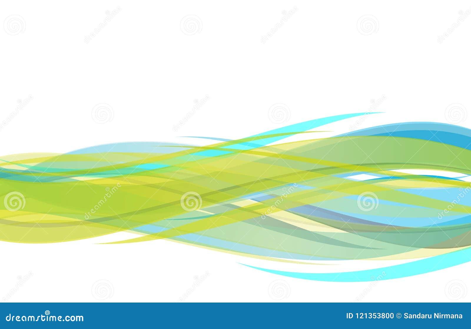 Wektorowej abstrakt zieleni błękitny i żółty falisty tło, tapeta dla jakaś projekta