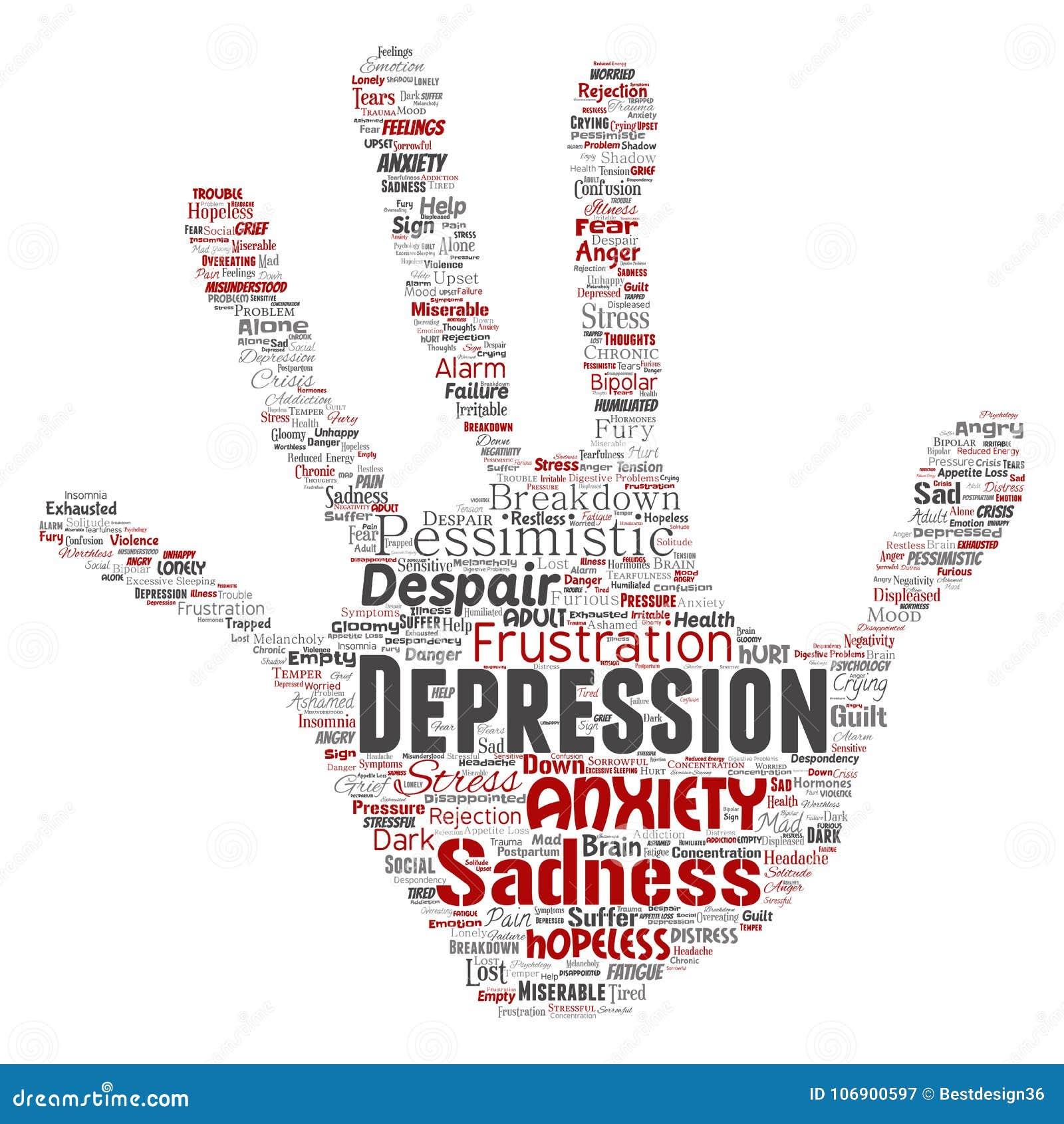 Wektorowej depresji emocjonalnego nieładu umysłowy problem